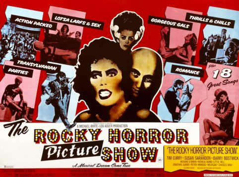 Original The Rocky Horror Picture Show Movie Poster Tim Curry