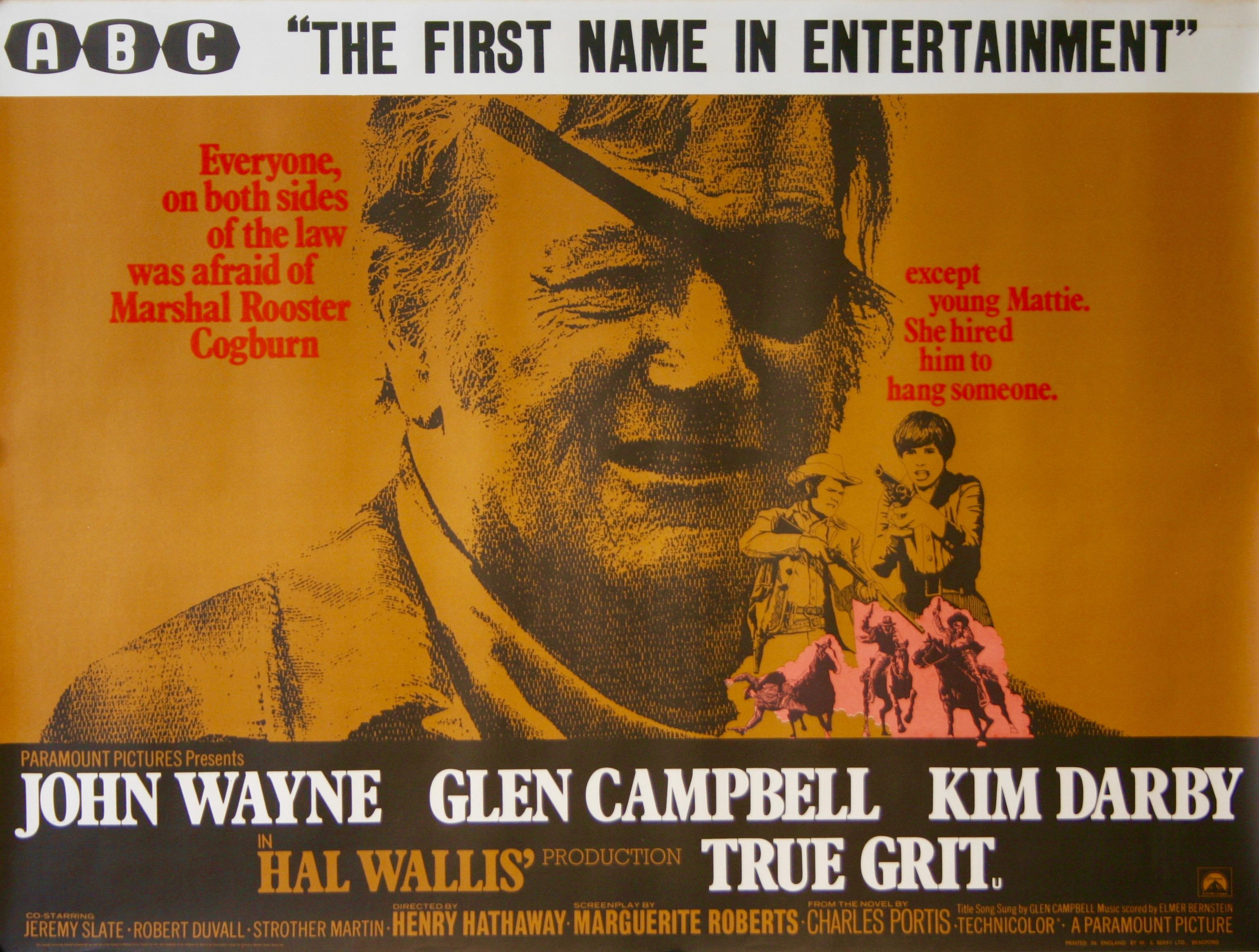 True Grit Movie Poster - Vintage Movie Posters