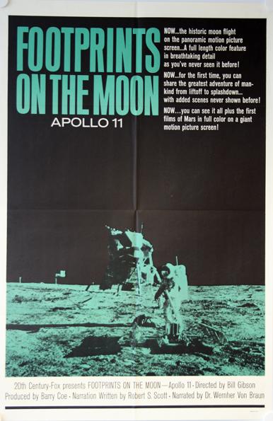 Footprints On The Moon Original Apollo 11 Rare Poster Movie Memorabilia