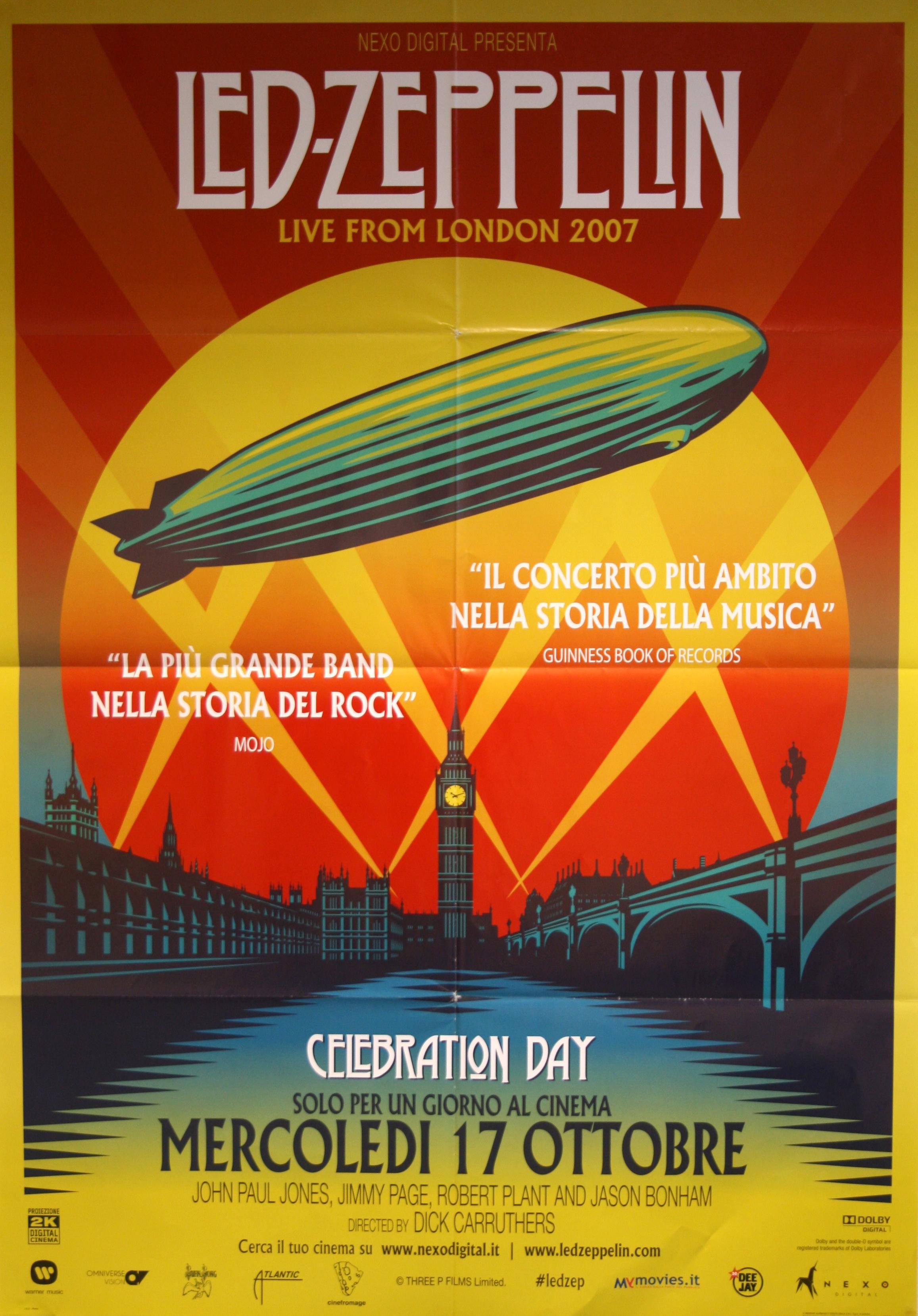 Led Zeppelin Celebration Day Vintage Movie Posters
