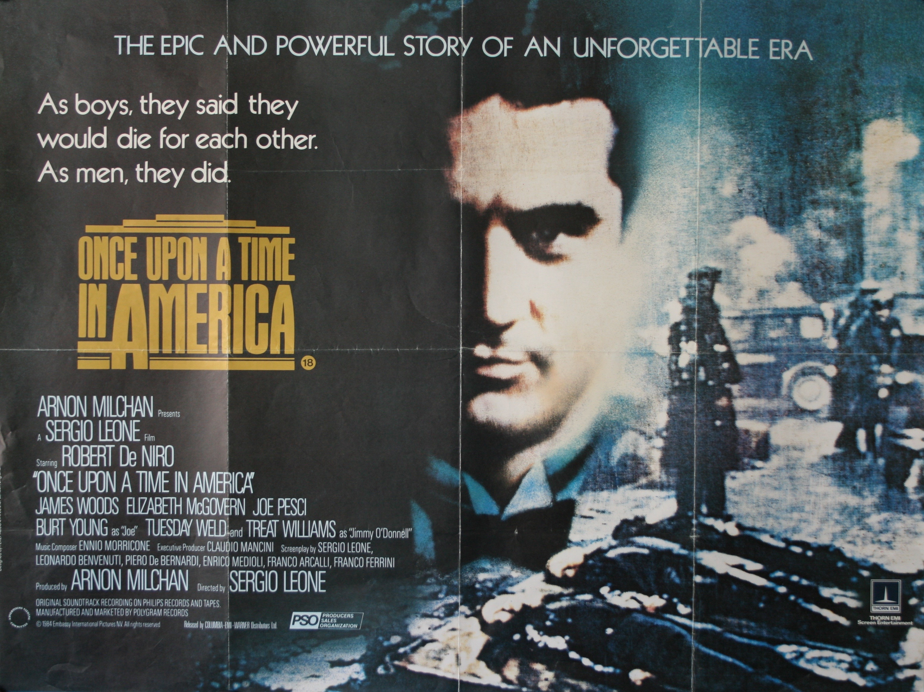 Once Upon A Time In America 5   Poster Greatest Movies Classic /& Vintage Films