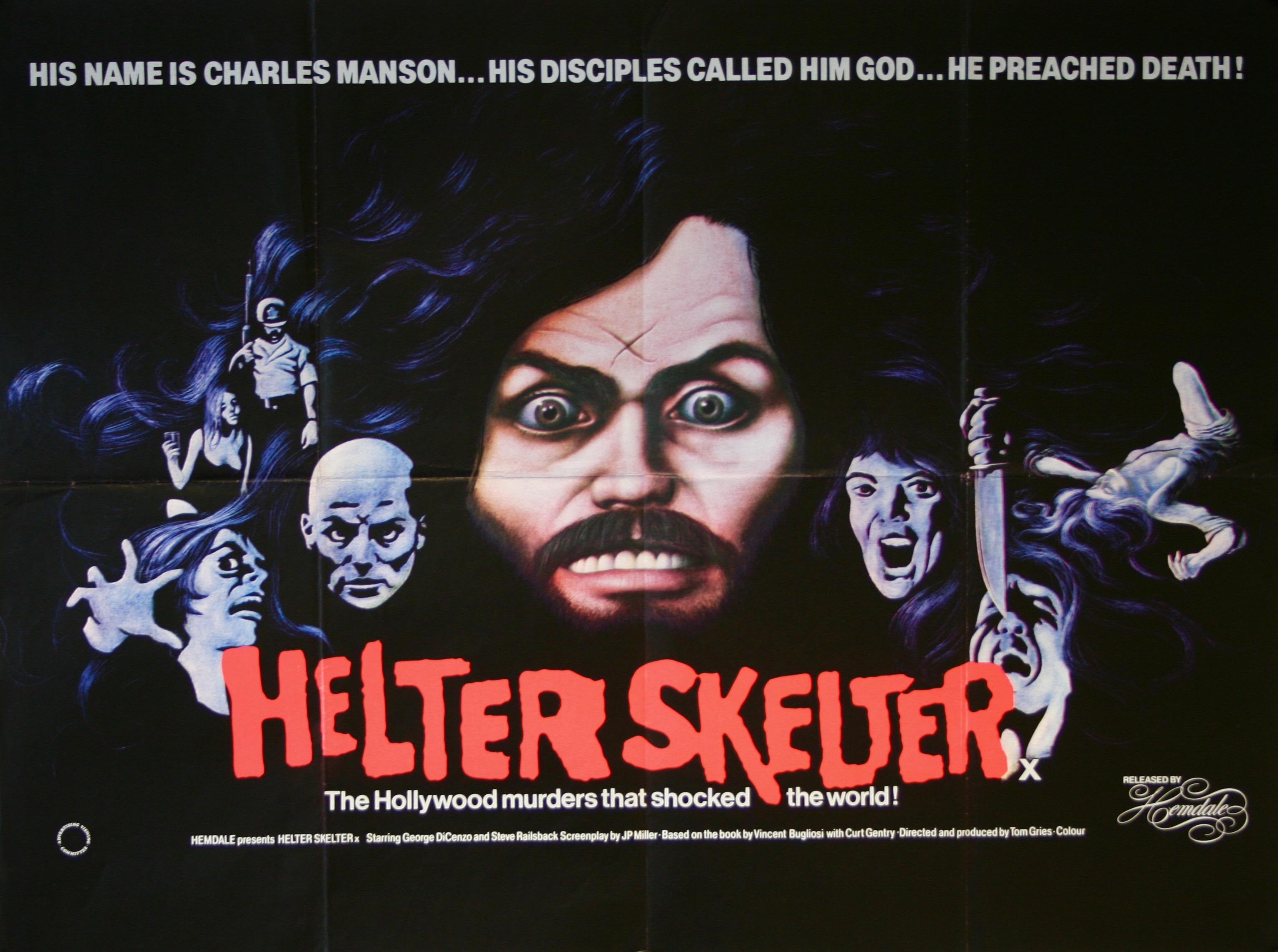 helter skelter movie poster   rare vintage film posters