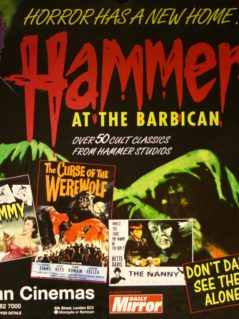 Hammer at the Barbican - Horror has a new home - 1996 horror film festival