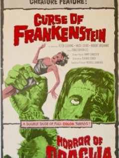 Curse of Frankenstein - Horror of Dracula movie poster