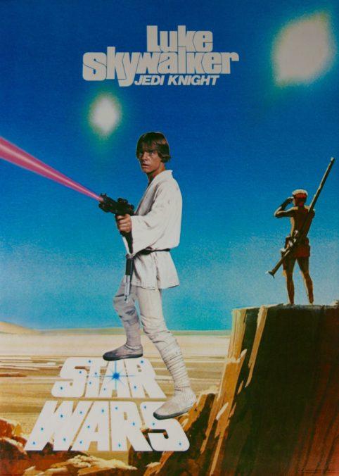 Original Star Wars: Episode IV - A New Hope Movie Poster - Luke Skywalker