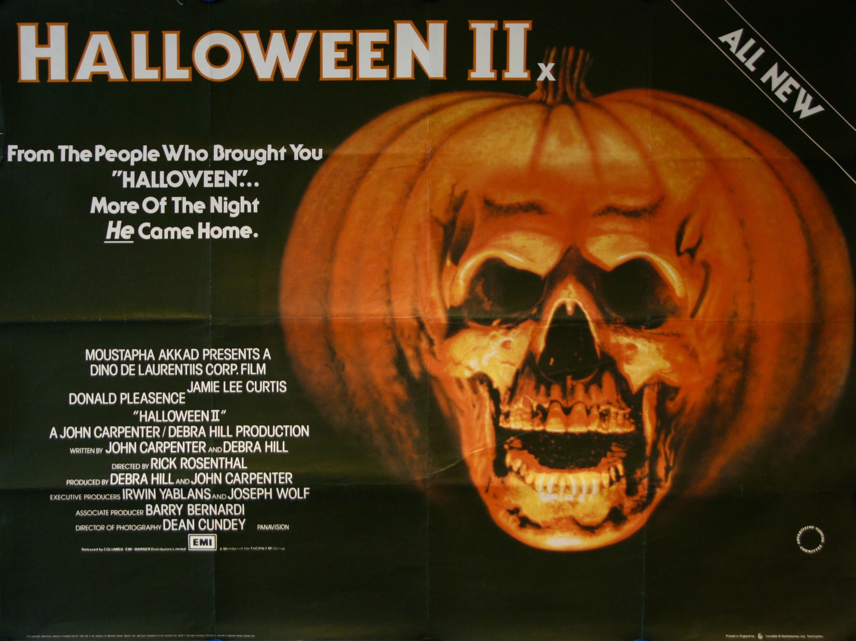 Halloween II Movie Poster - Vintage Movie Posters