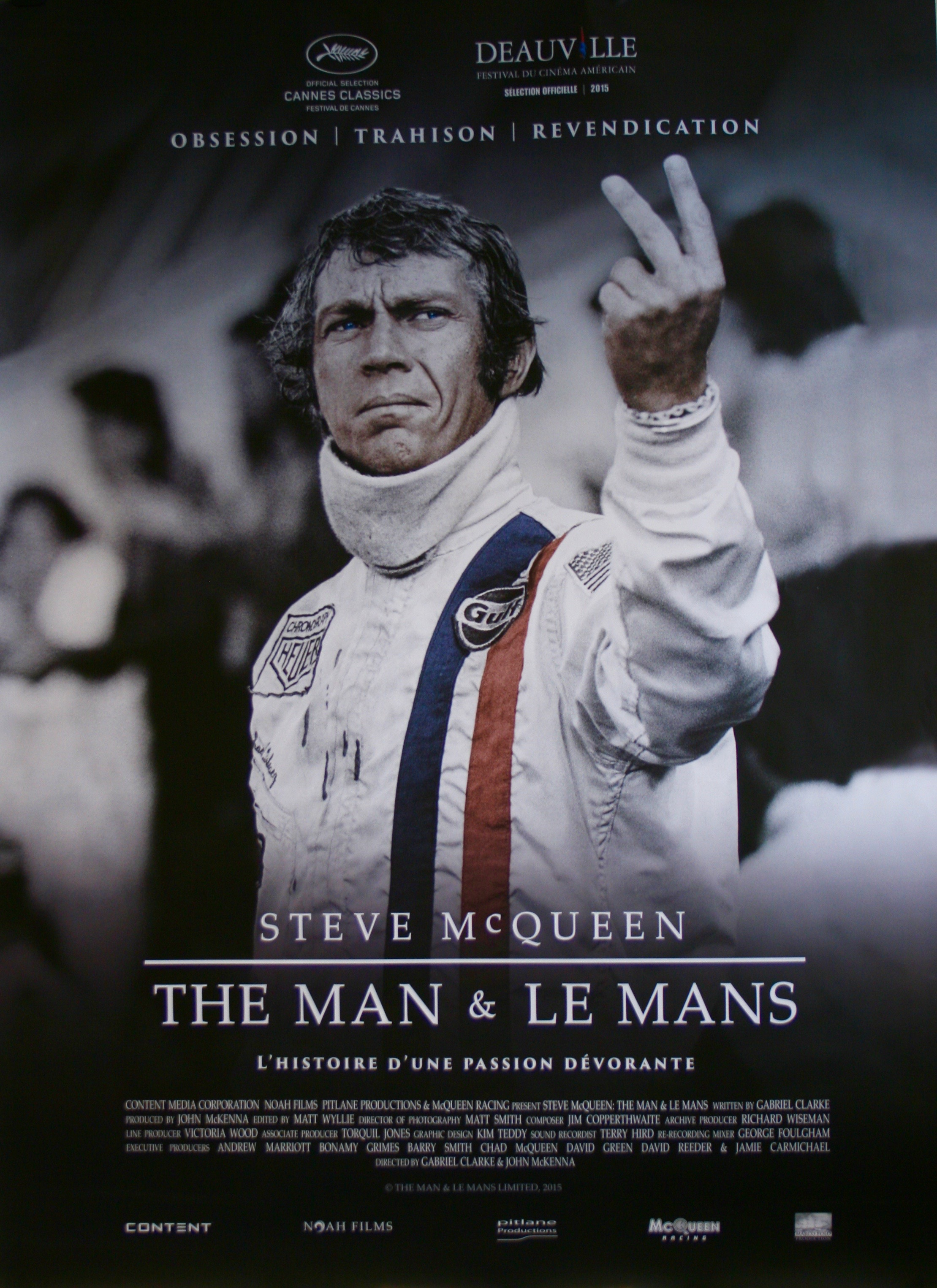 original steve mcqueen the man and le mans movie poster. Black Bedroom Furniture Sets. Home Design Ideas