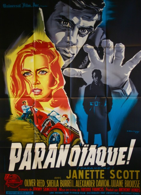 paranoiac paranoiaque movie poster vintage film posters