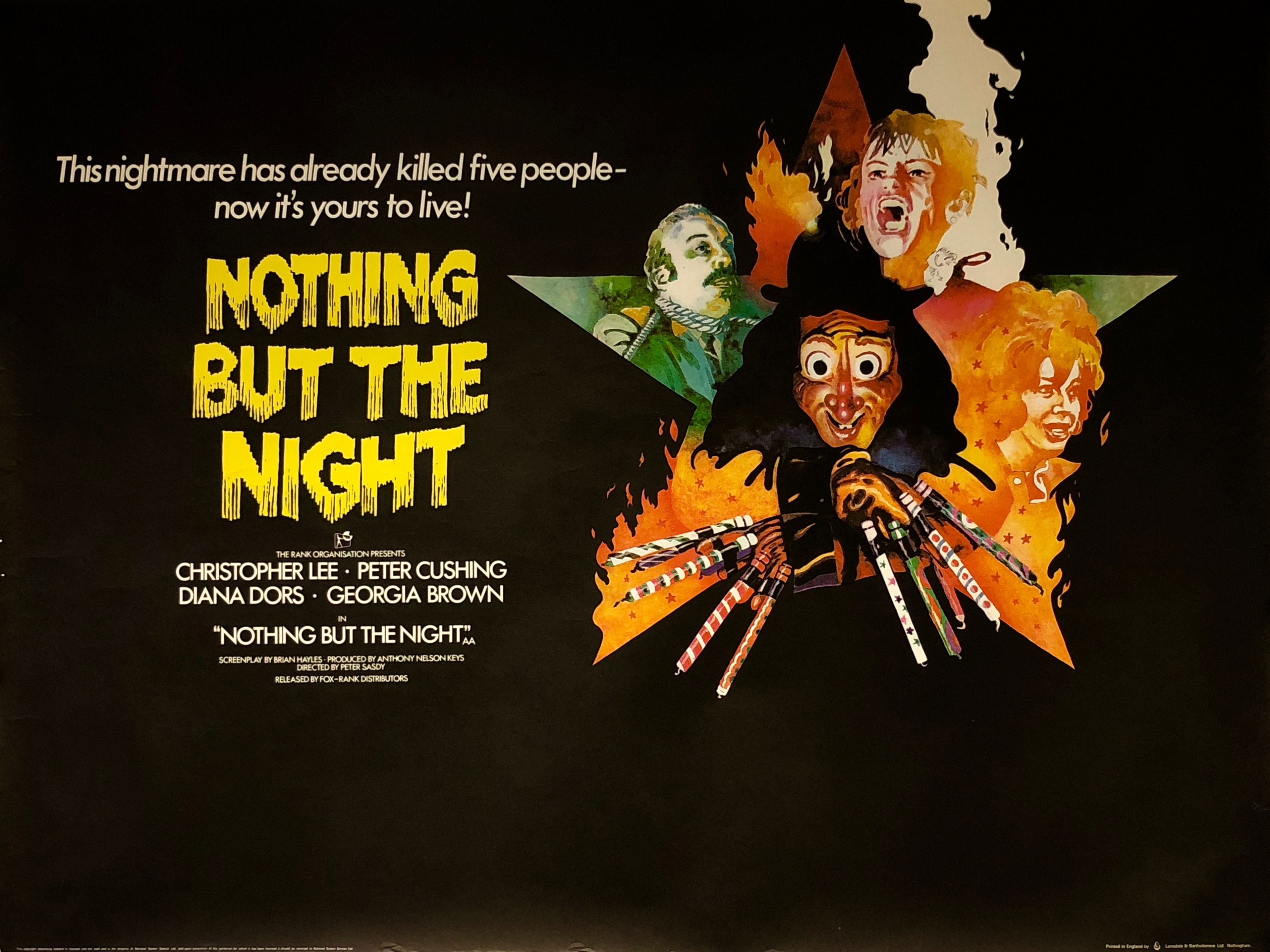 Nothing But The Night Movie Poster - Vintage Movie Posters