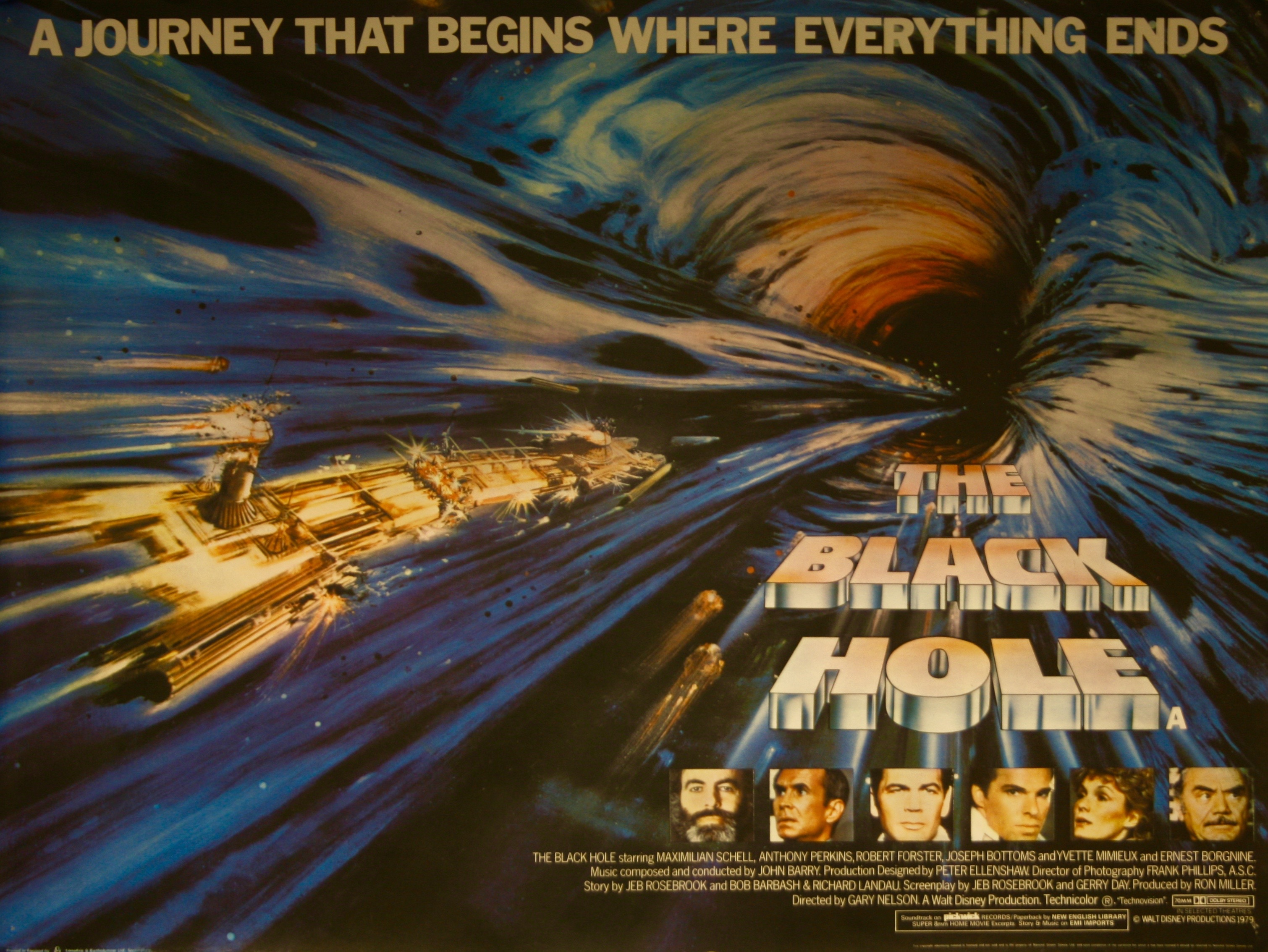 The Black Hole Movie Poster - Vintage Movie Posters