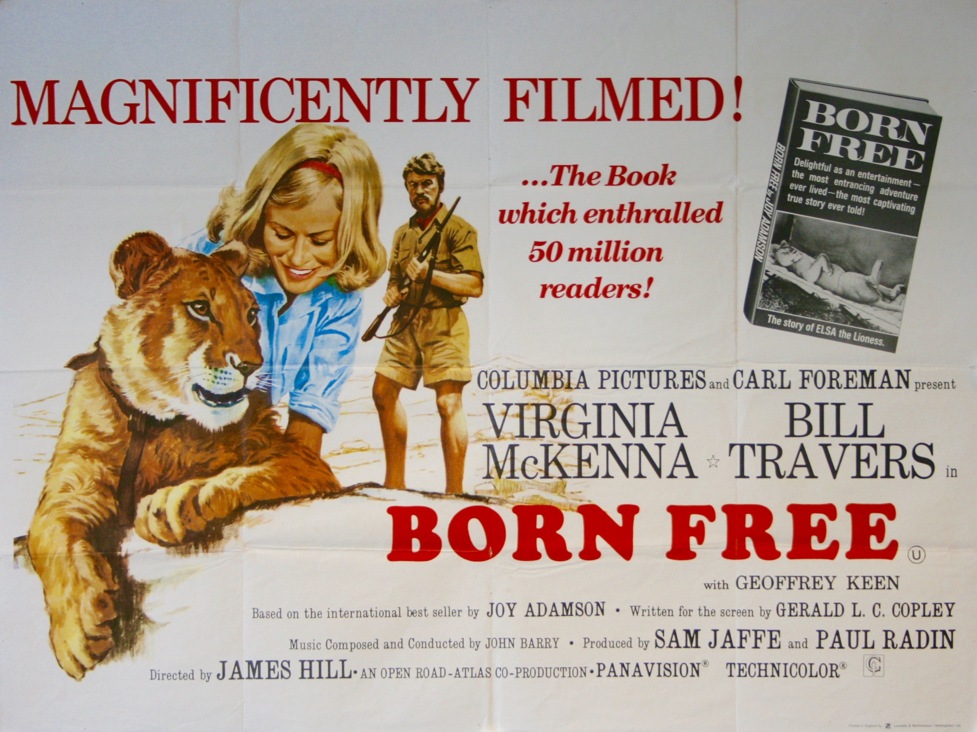 Born Free Movie Poster - Vintage Movie Posters