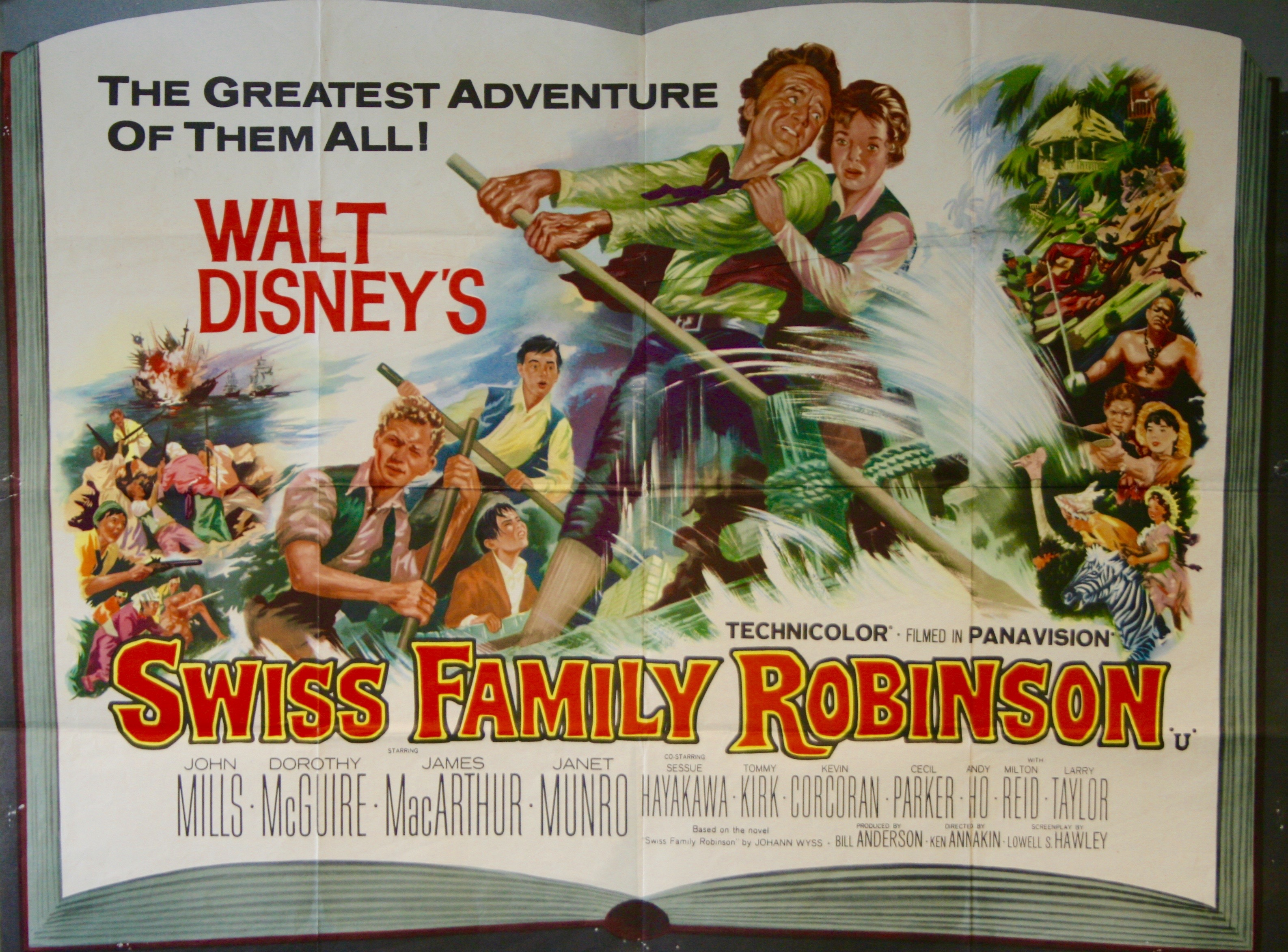 Swiss Family Robinson Movie Poster Vintage Film Posters