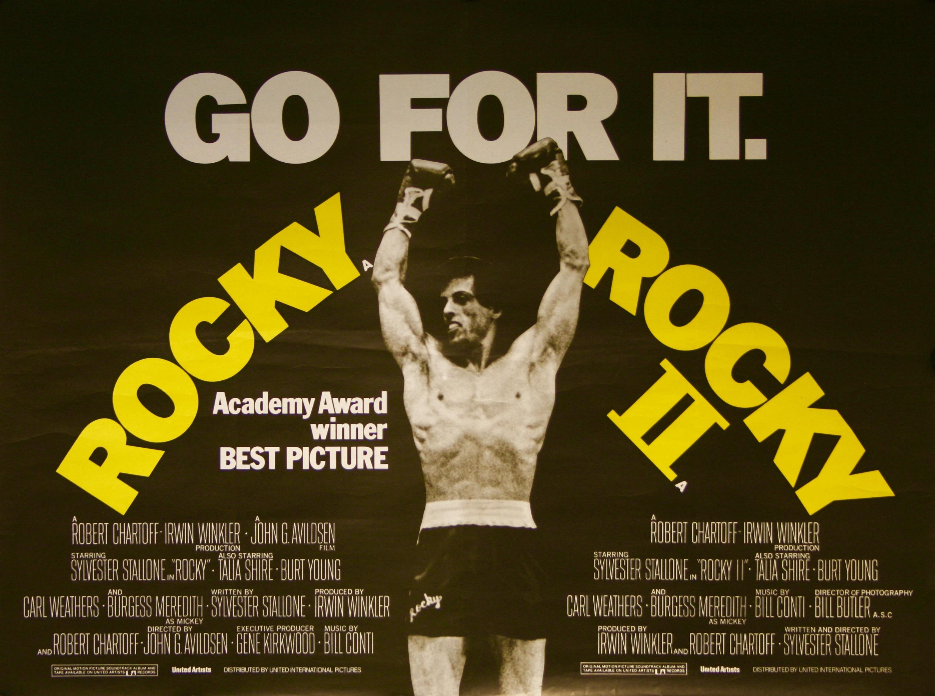 rocky rocky ii movie poster vintage movie posters