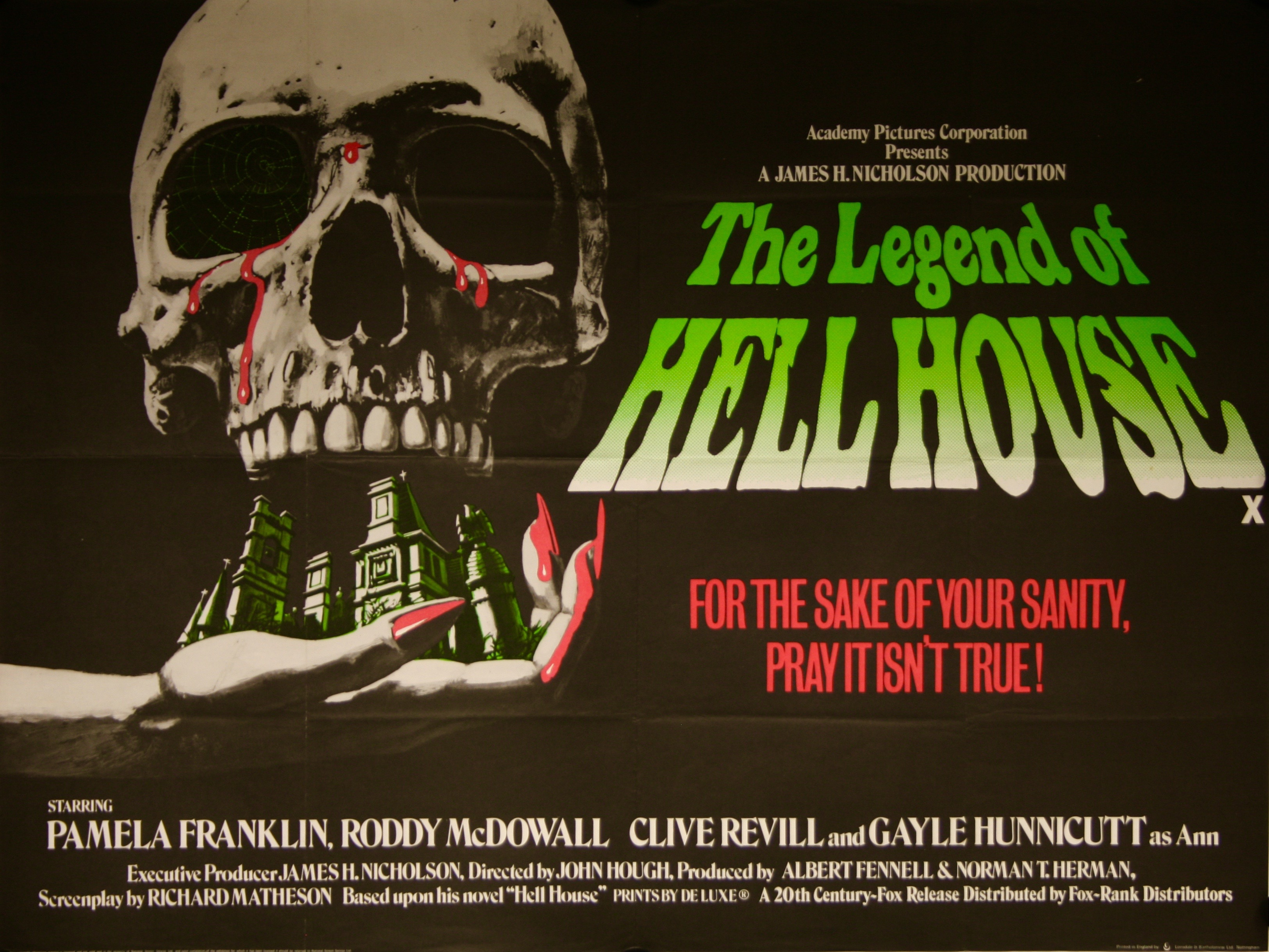 The Legend of Hell House - Vintage Movie Posters