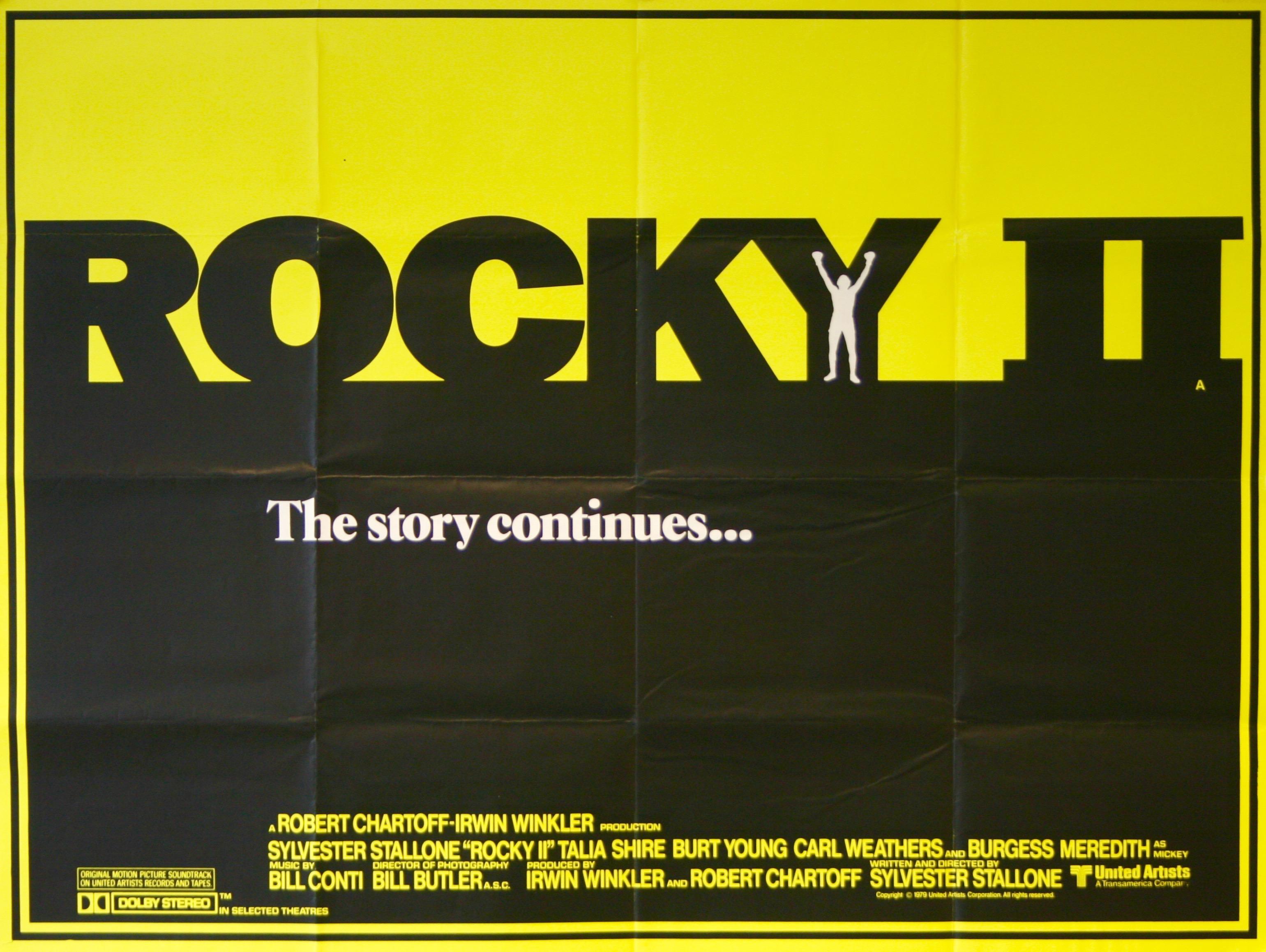 Rocky II - Vintage Movie Posters