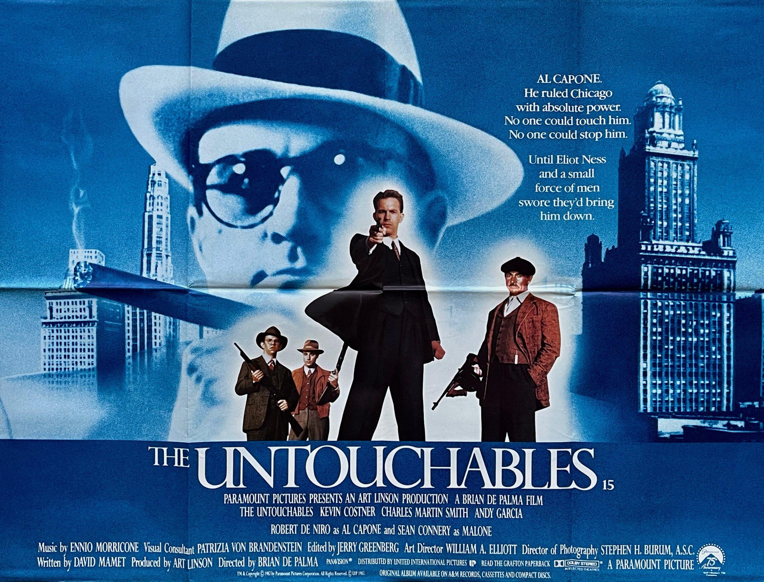 Original The Untouchables Movie Poster - Al Capone - Crime - Gangsters