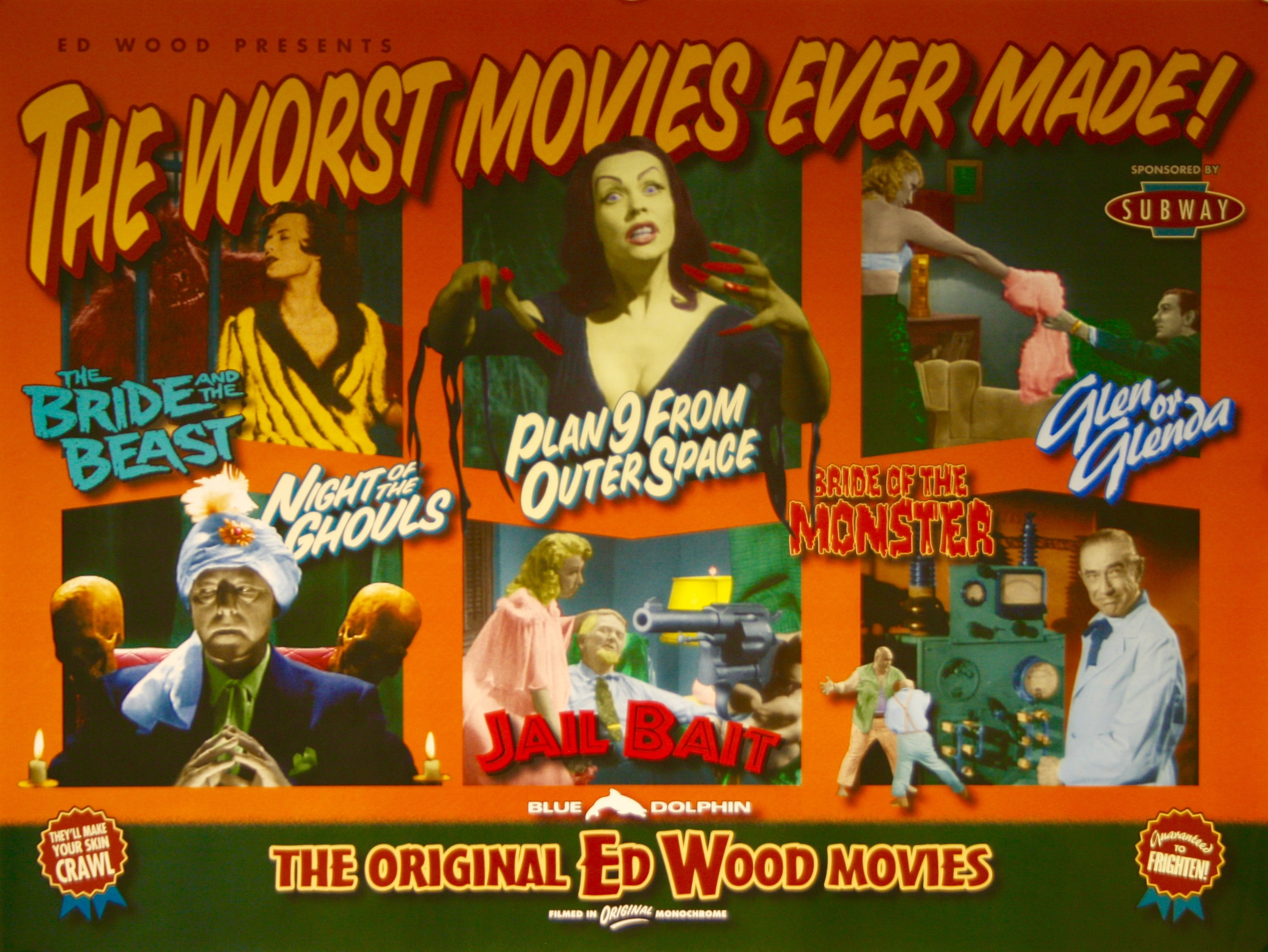 Ed Wood Presents The Worst Movies Ever Made - Vintage Movie Posters