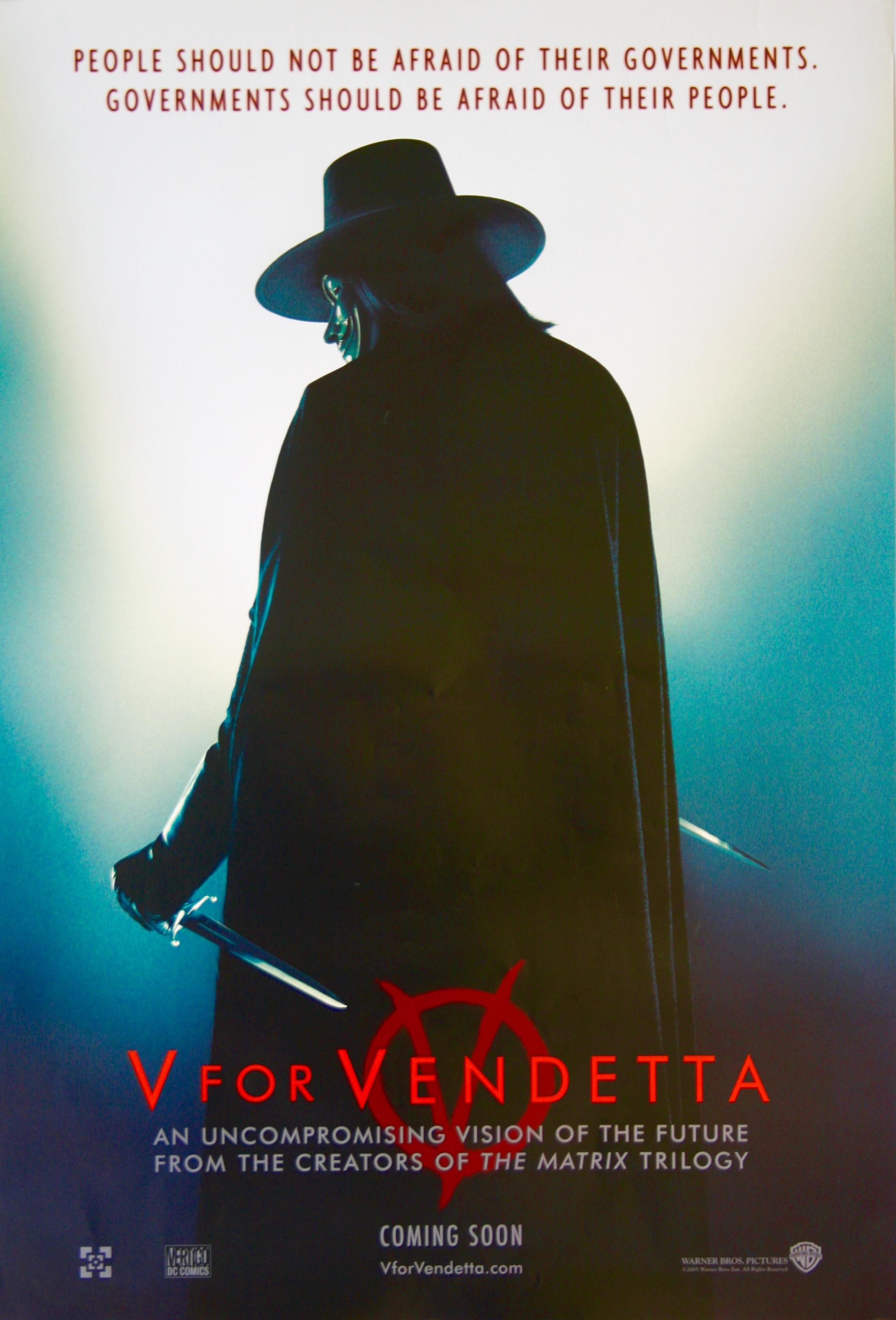 V For Vendetta Movie Poster V for Vendetta - Vinta...