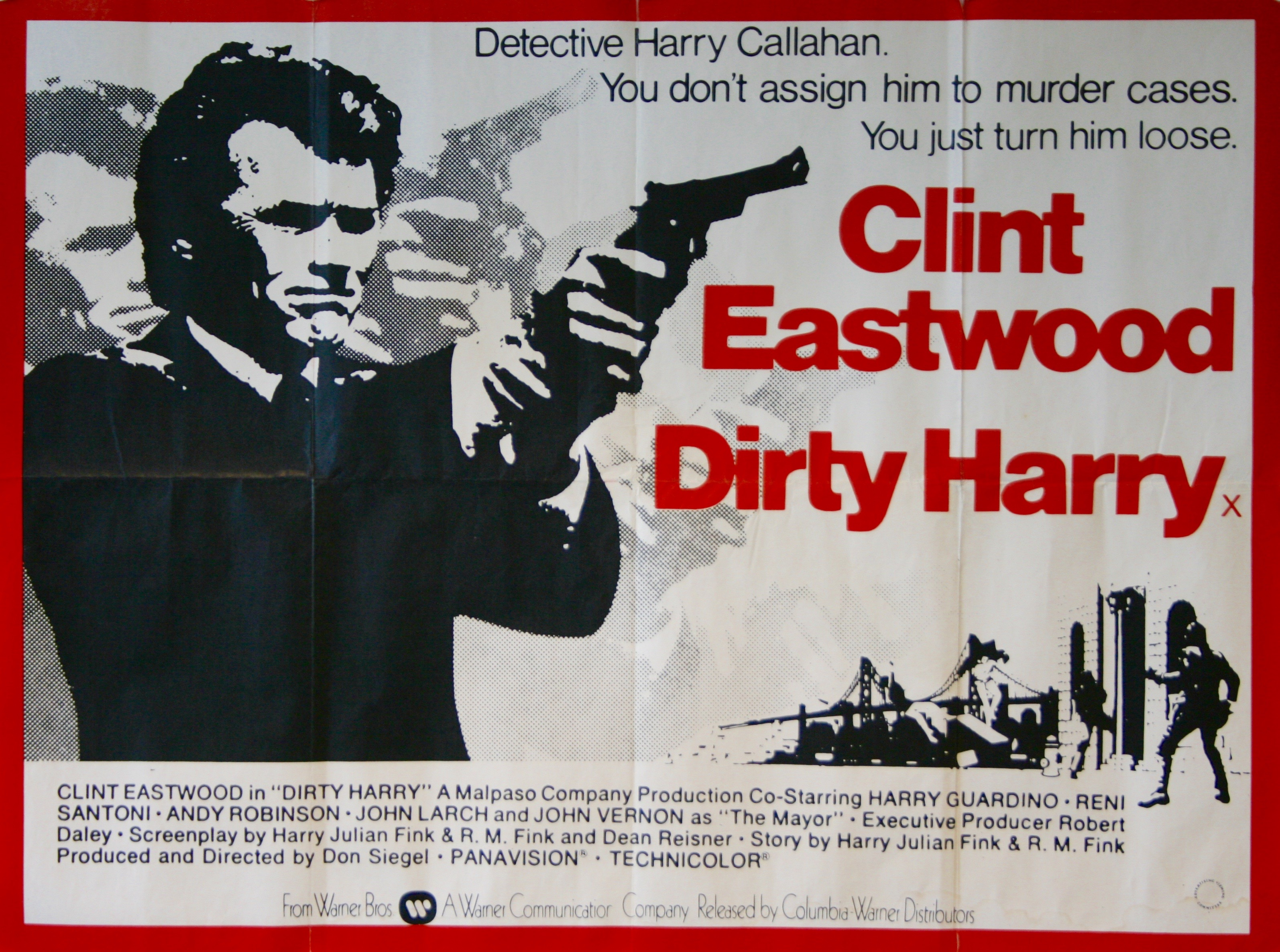Dirty Harry - Vintage Movie Posters