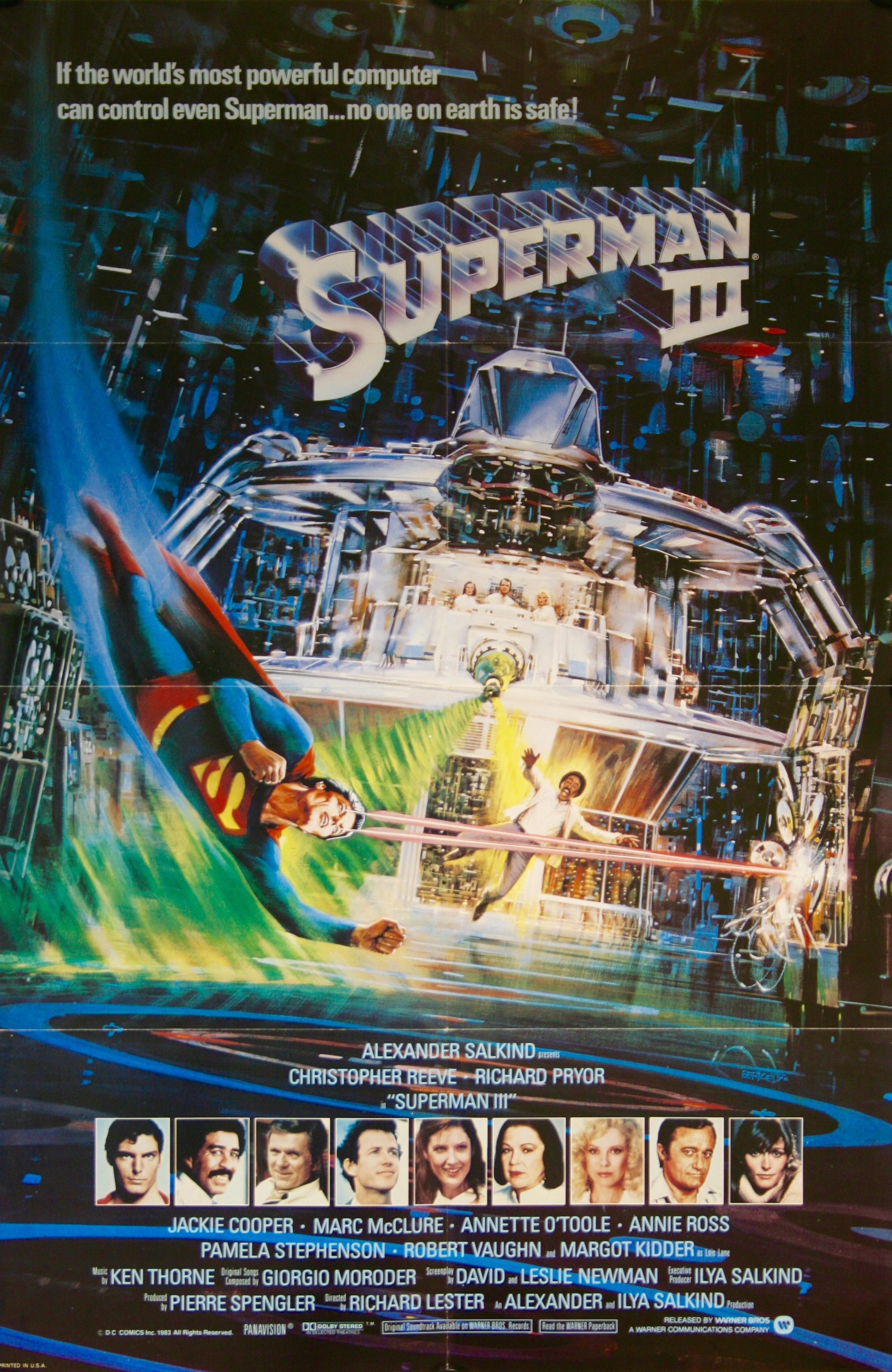 Superman Iii Vintage Movie Posters