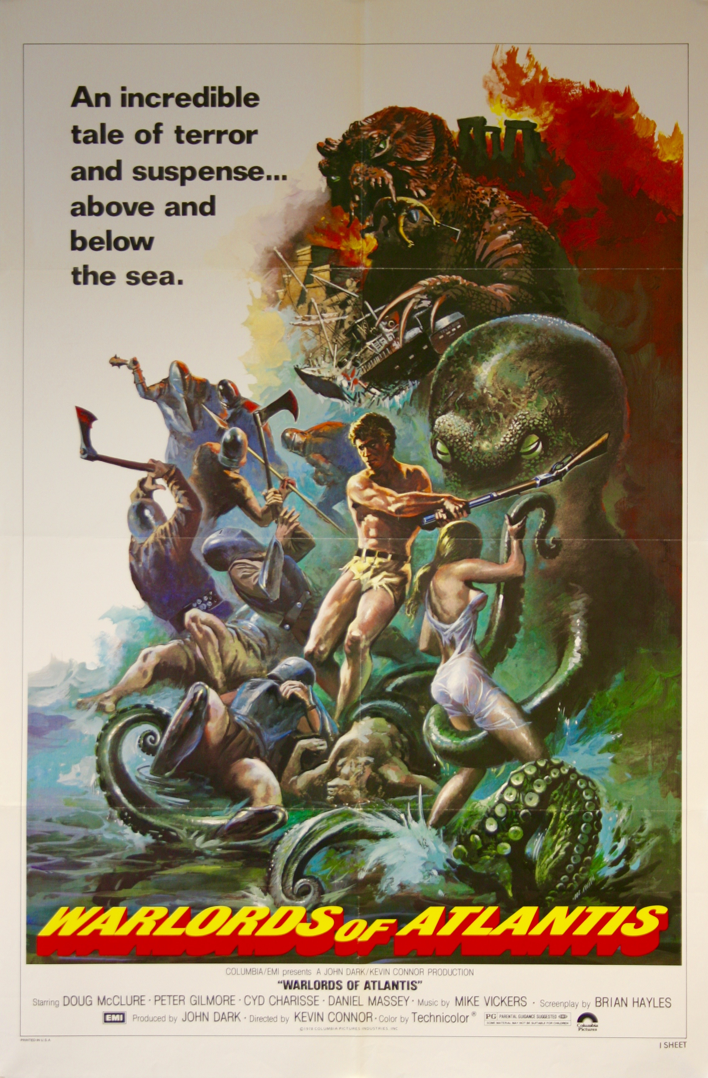 Warlords Of Atlantis Movie Poster Rare Film Poster border=