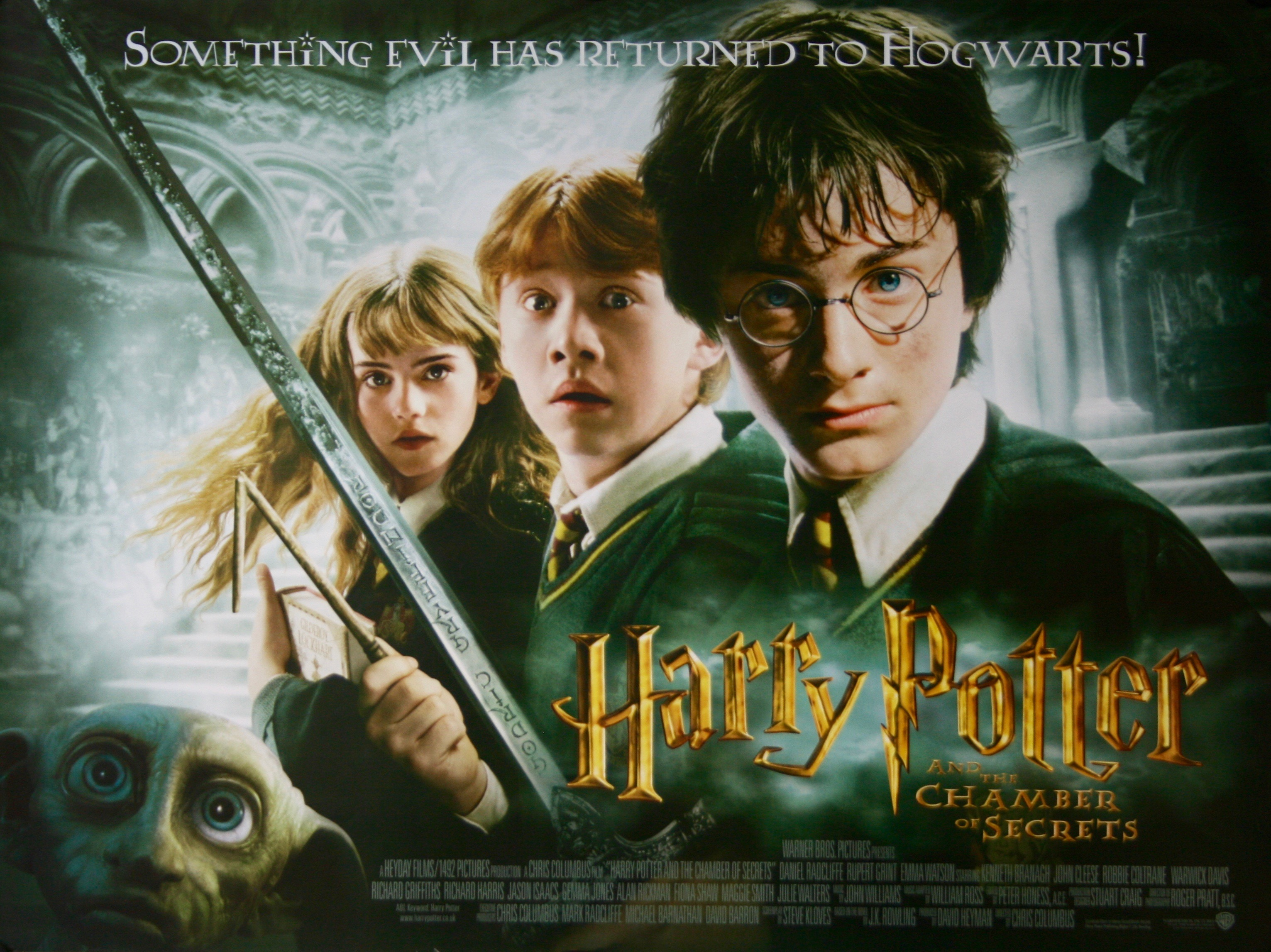 Harry potter and the chamber of secrets movie poster - Harry potter chambre secrets streaming ...