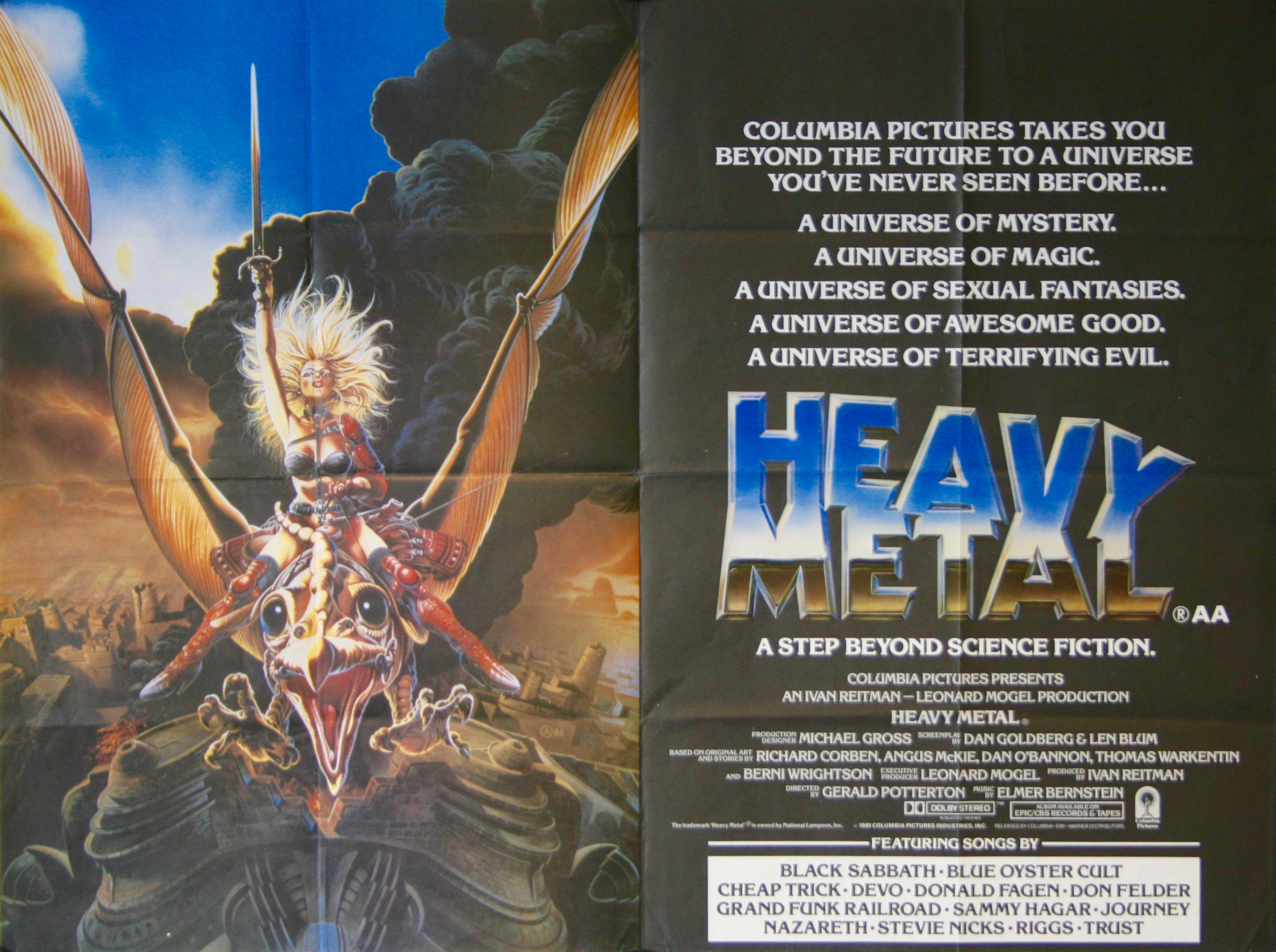 Heavy Metal Movie Poster - Vintage Movie Posters