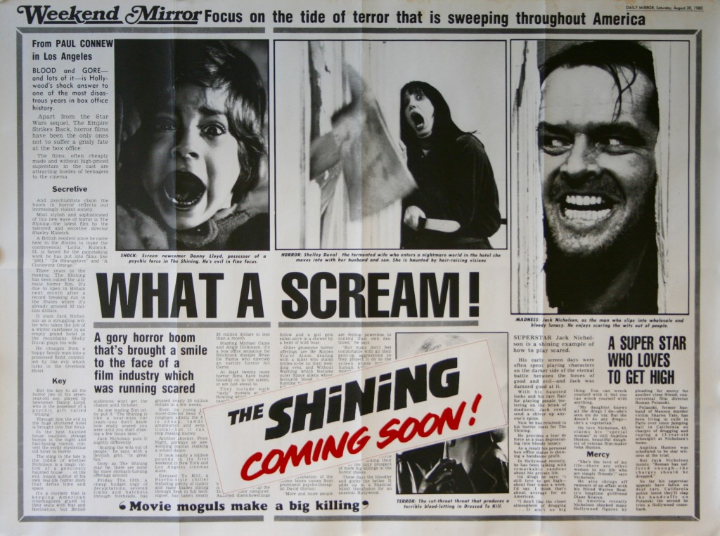 a comparison of stephen kings book the shining and stanley kubricks film adaptation of the shining
