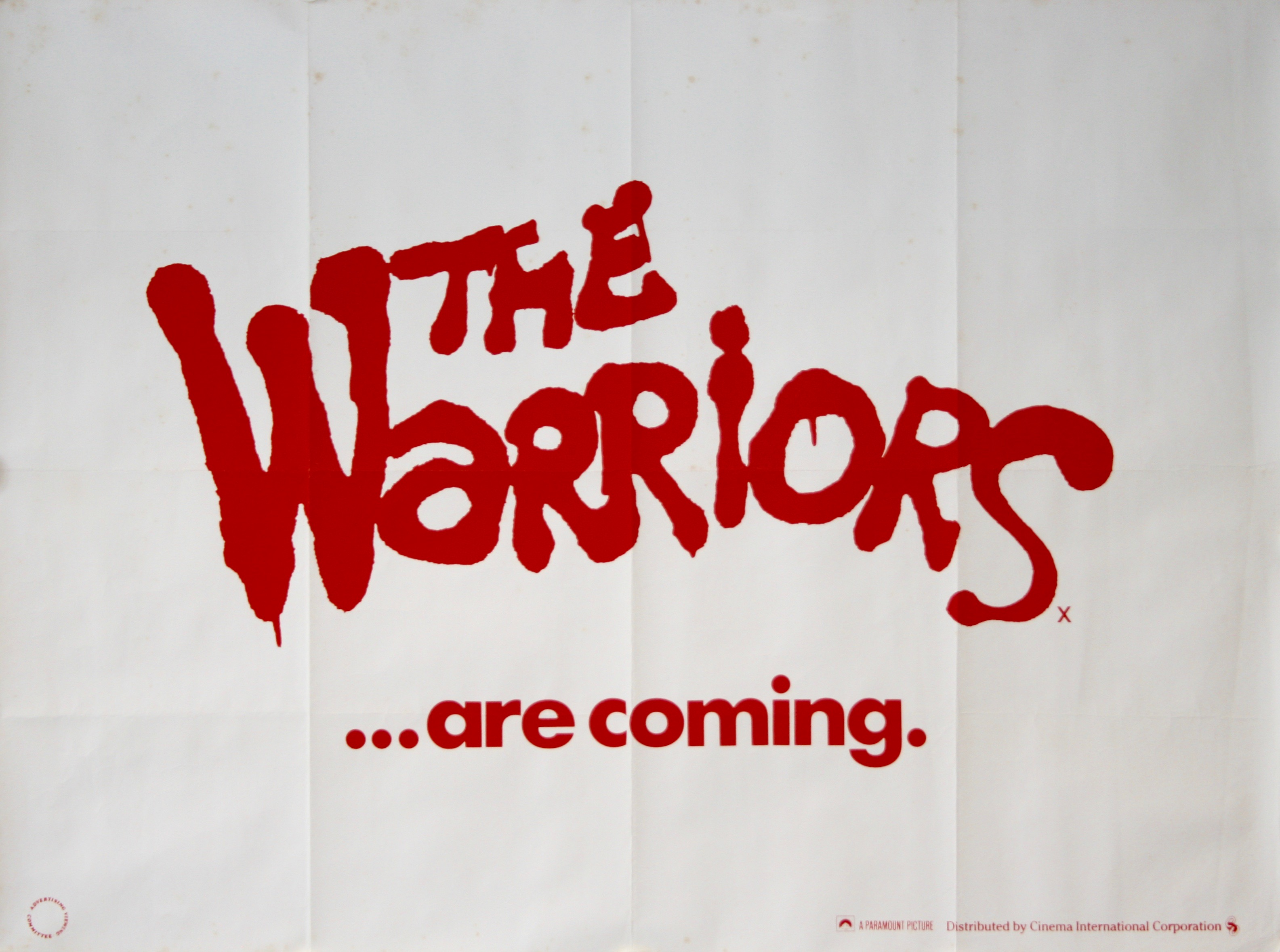 """/""""The Warriors/"""" ..Michael Beck..Classic 1979 Movie Poster Various Sizes"""