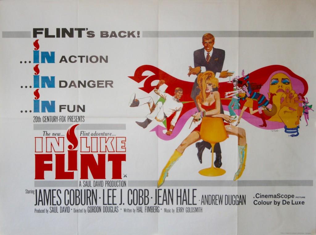 "In Like Flint Movie Poster Mini 11/""X17/"""