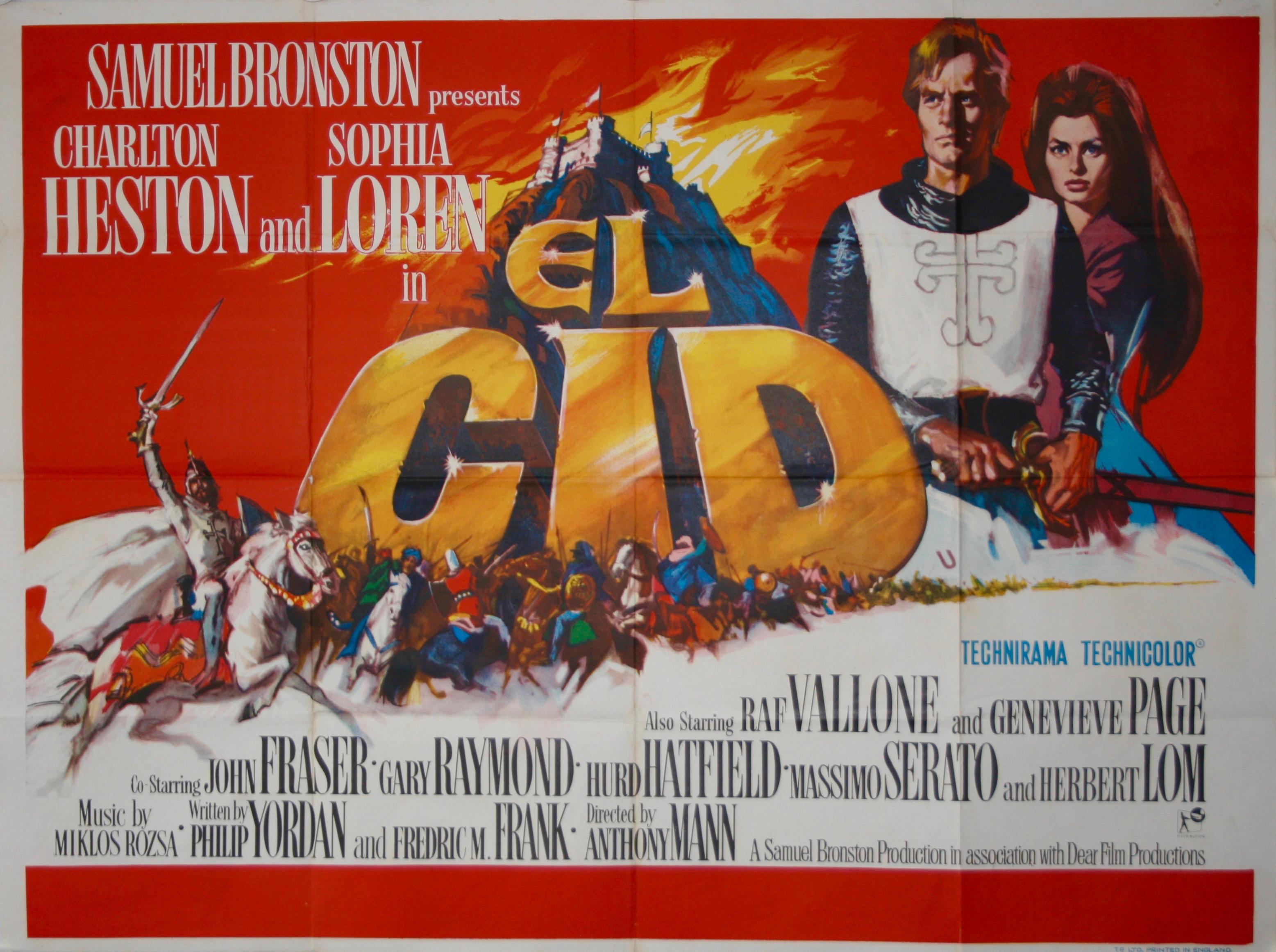 el cid vintage movie posters