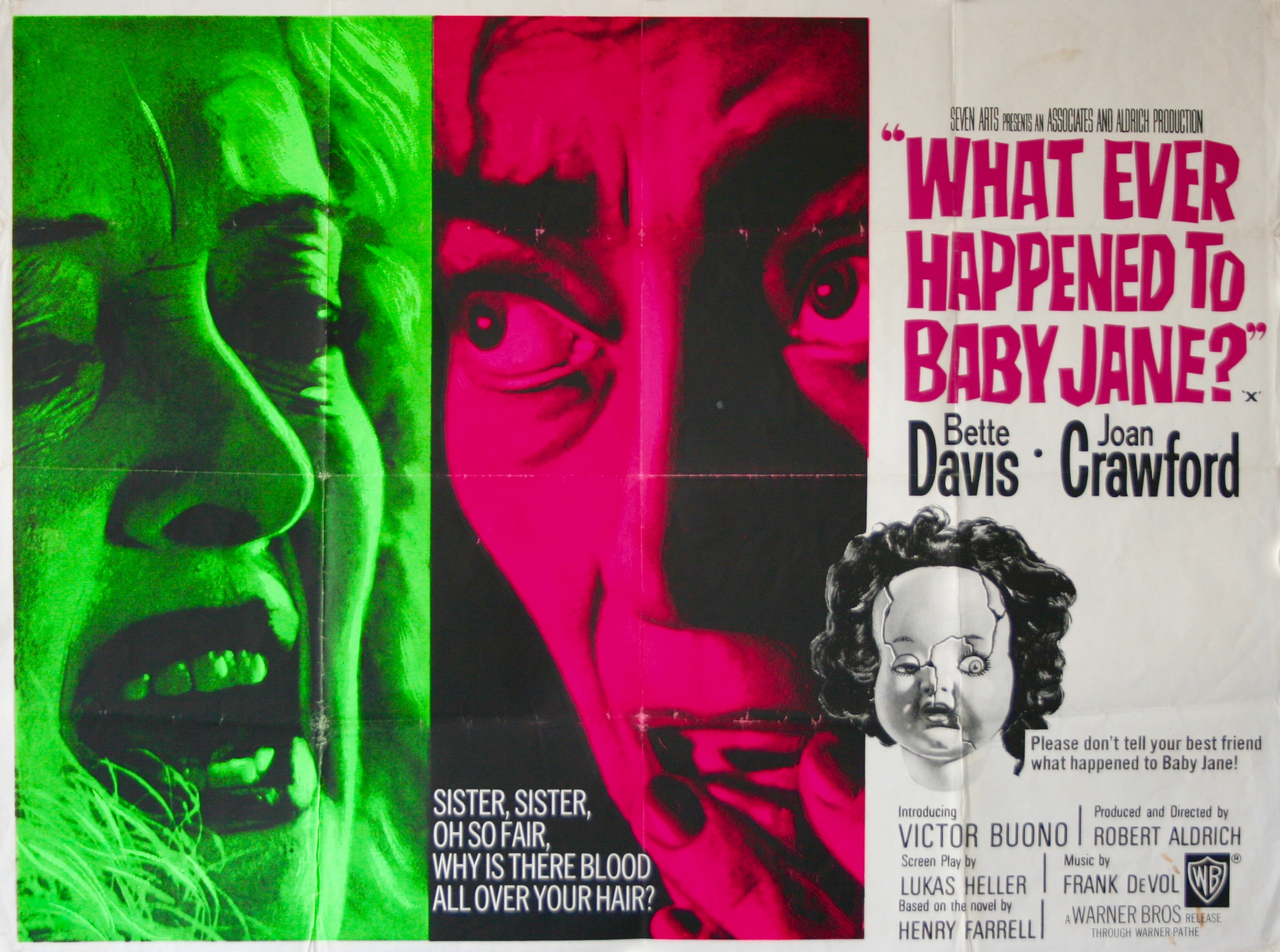 What Ever Happened To Baby Jane ? - Vintage Movie Posters