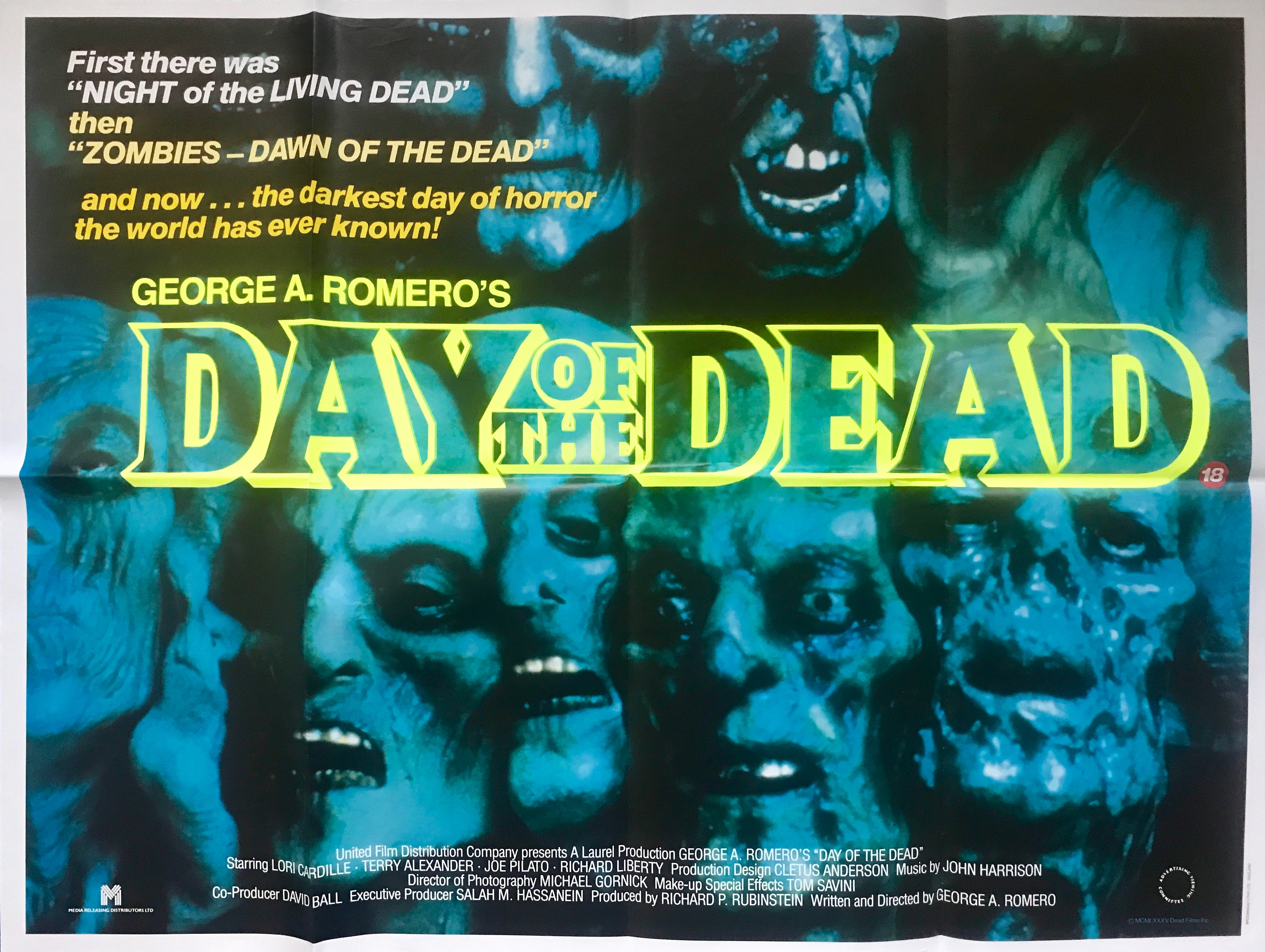 Day Of The Dead Vintage Movie Posters