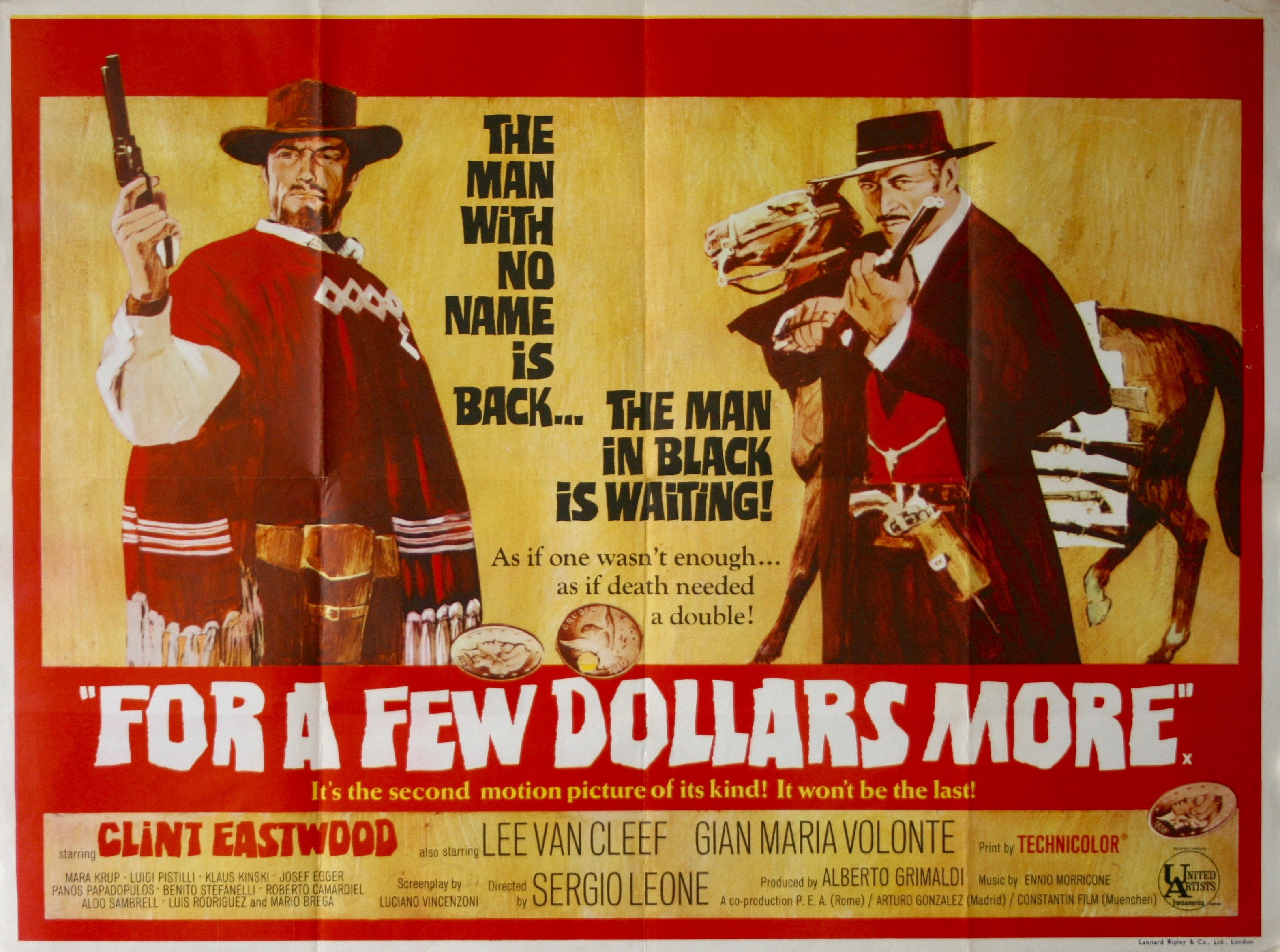For A Few Dollars More - Vintage Movie Posters