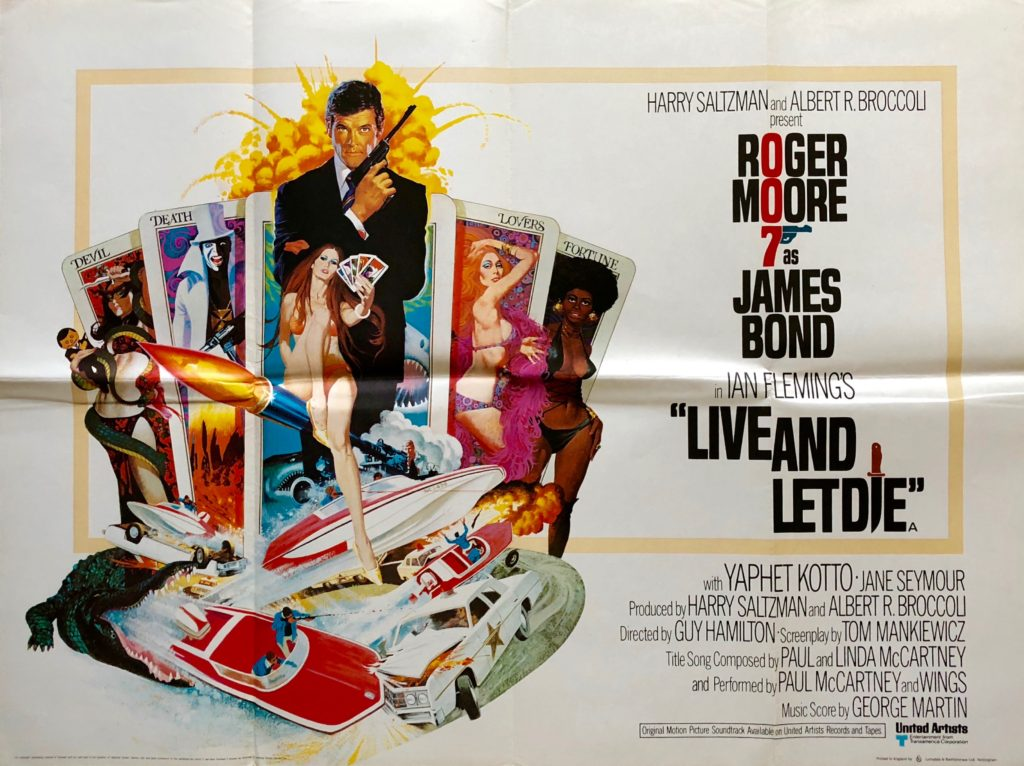 Original Live and Let Die Movie Poster - James Bond - 007 - Roger ...