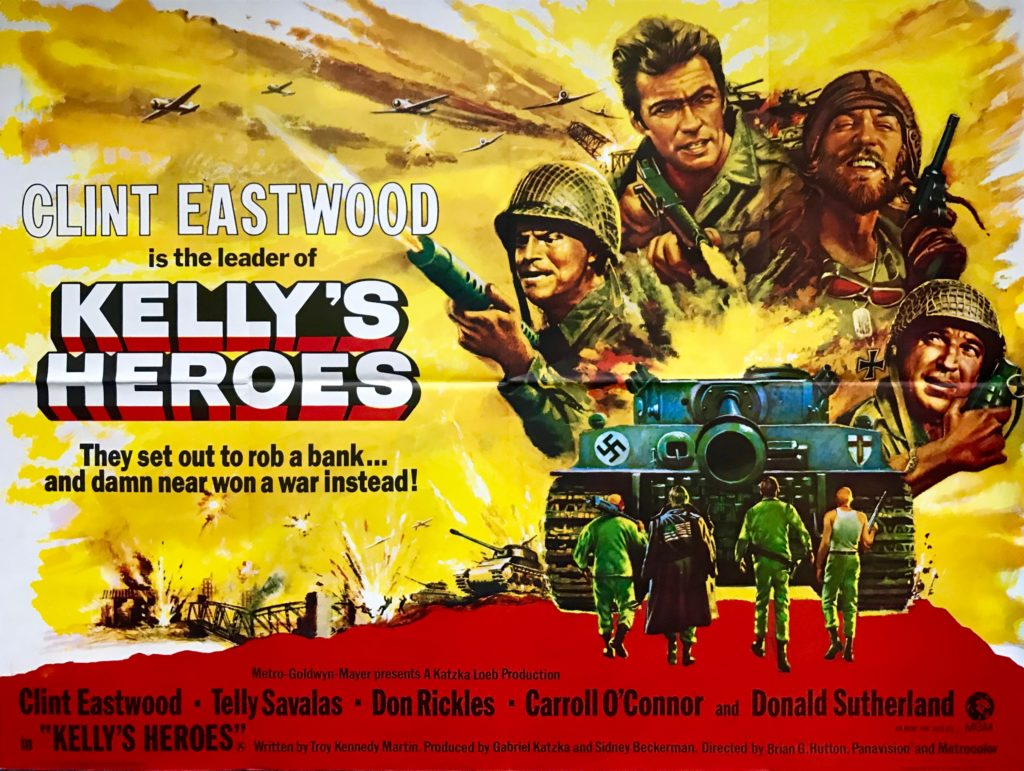Original Kelly S Heroes Movie Poster Clint Eastwood Telly Savalas