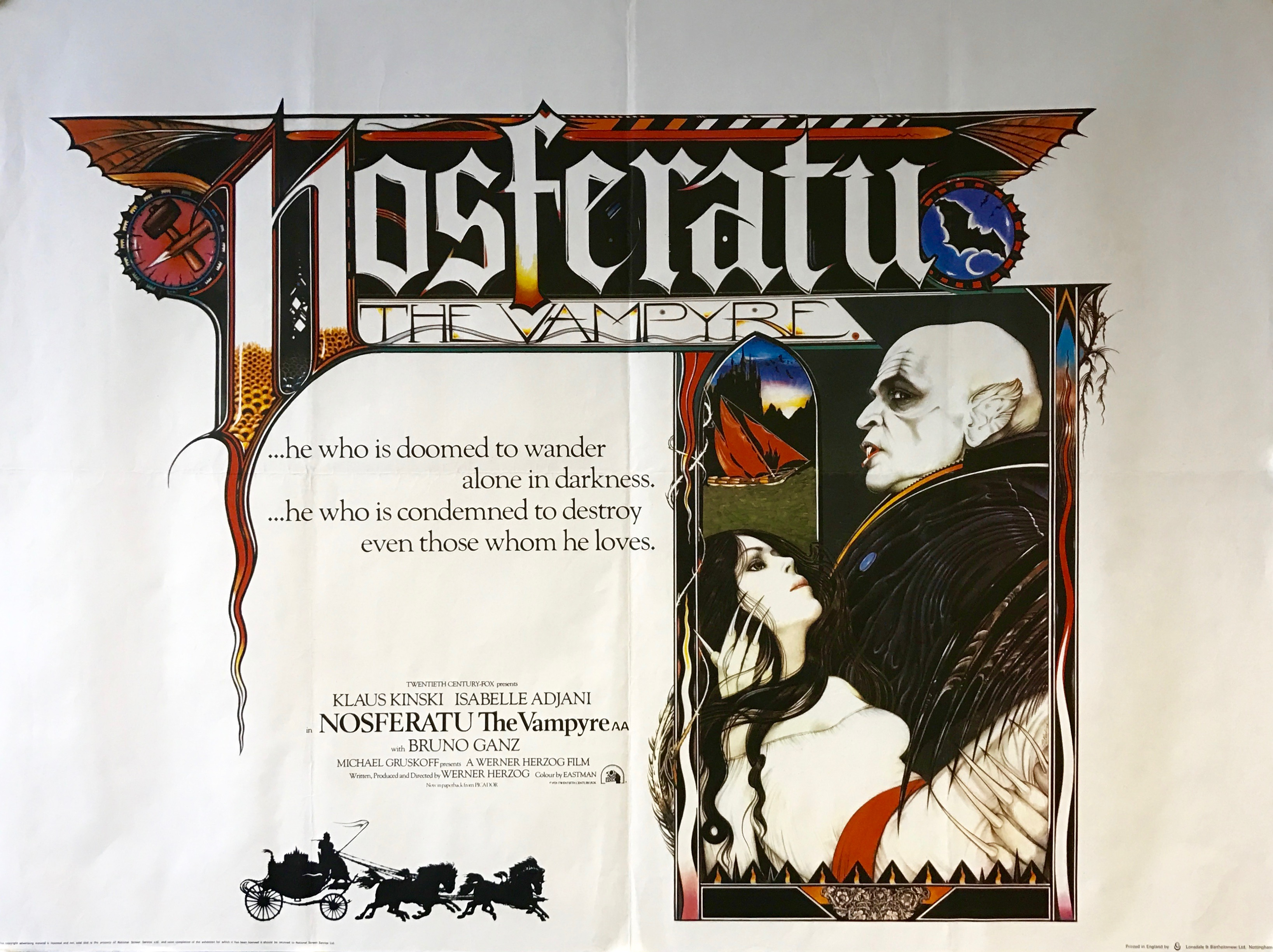 Nosferatu The Vampyre - Vintage Movie Posters