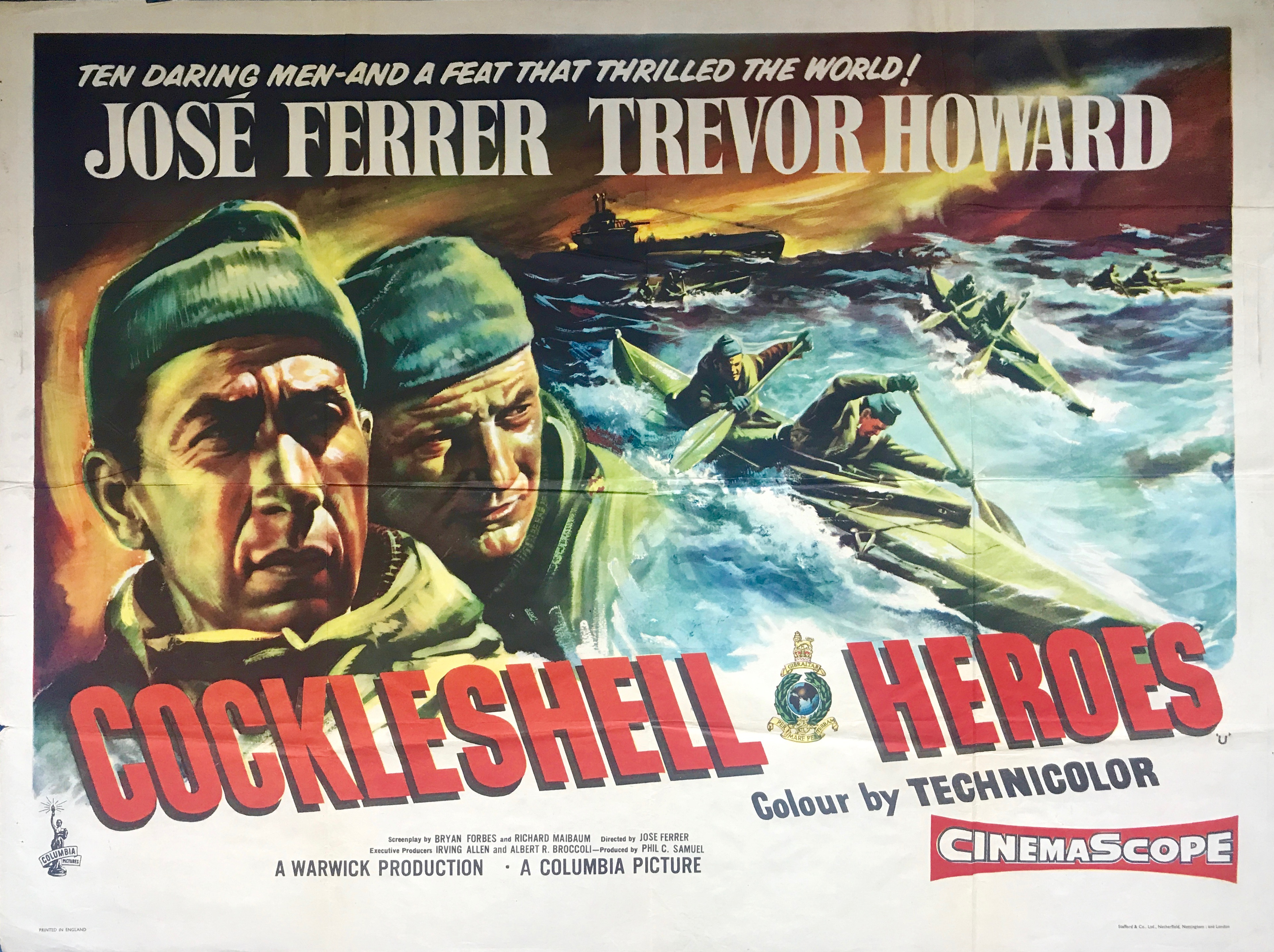 Cockleshell Heroes - Vintage Movie Posters