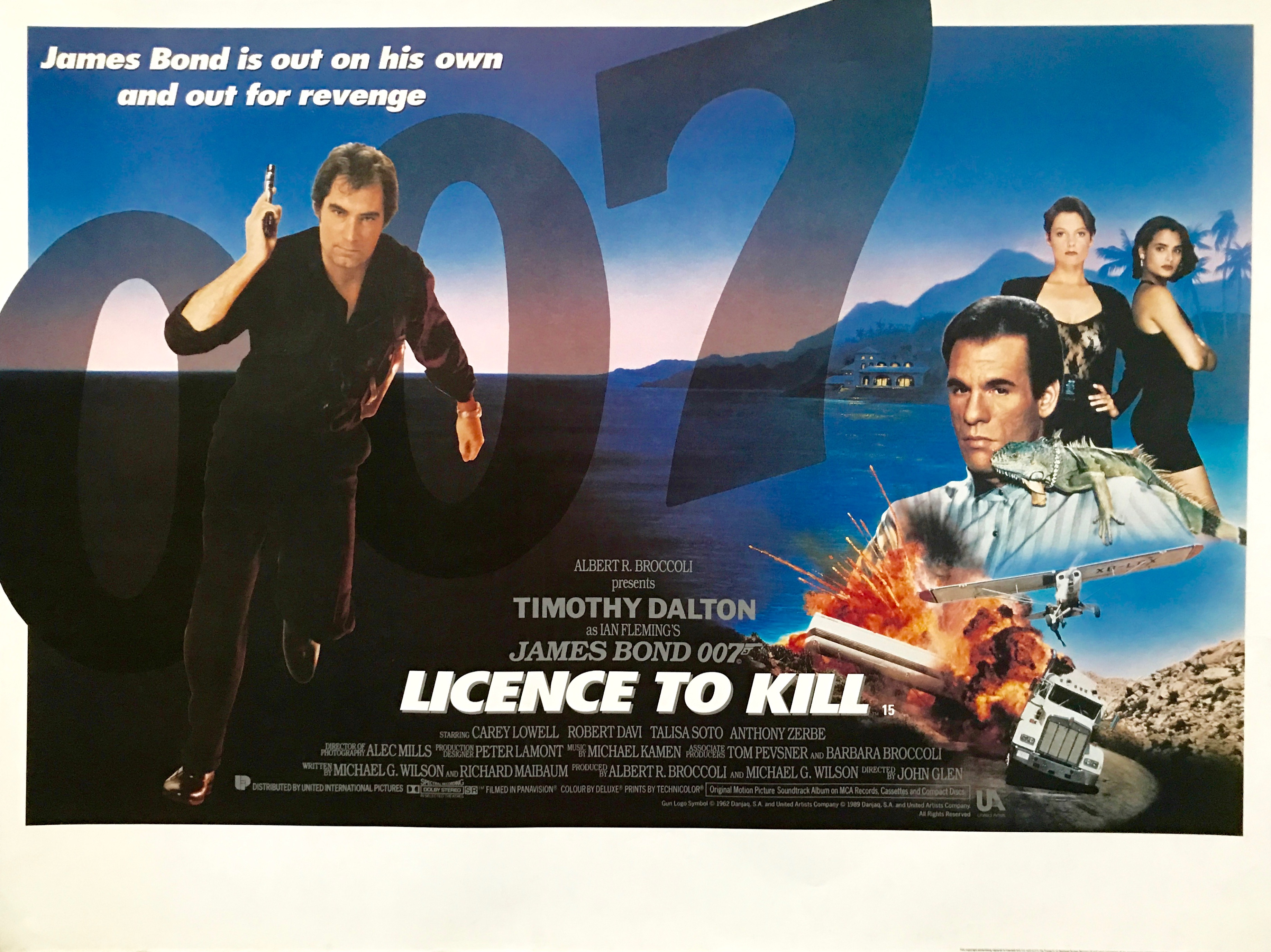 James Bond 007 Film Movie Poster Print A3 A4 Licence to Kill Living Daylights