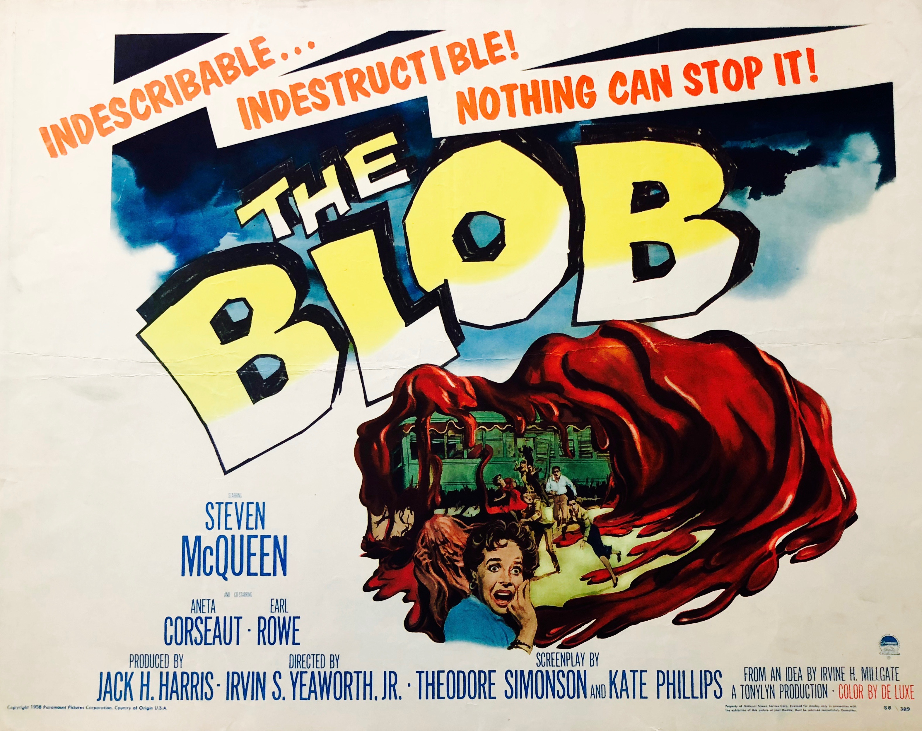 The Blob 1958 S McQueen Retro Movie Poster A0-A1-A2-A3-A4-A5-A6-MAXI 229