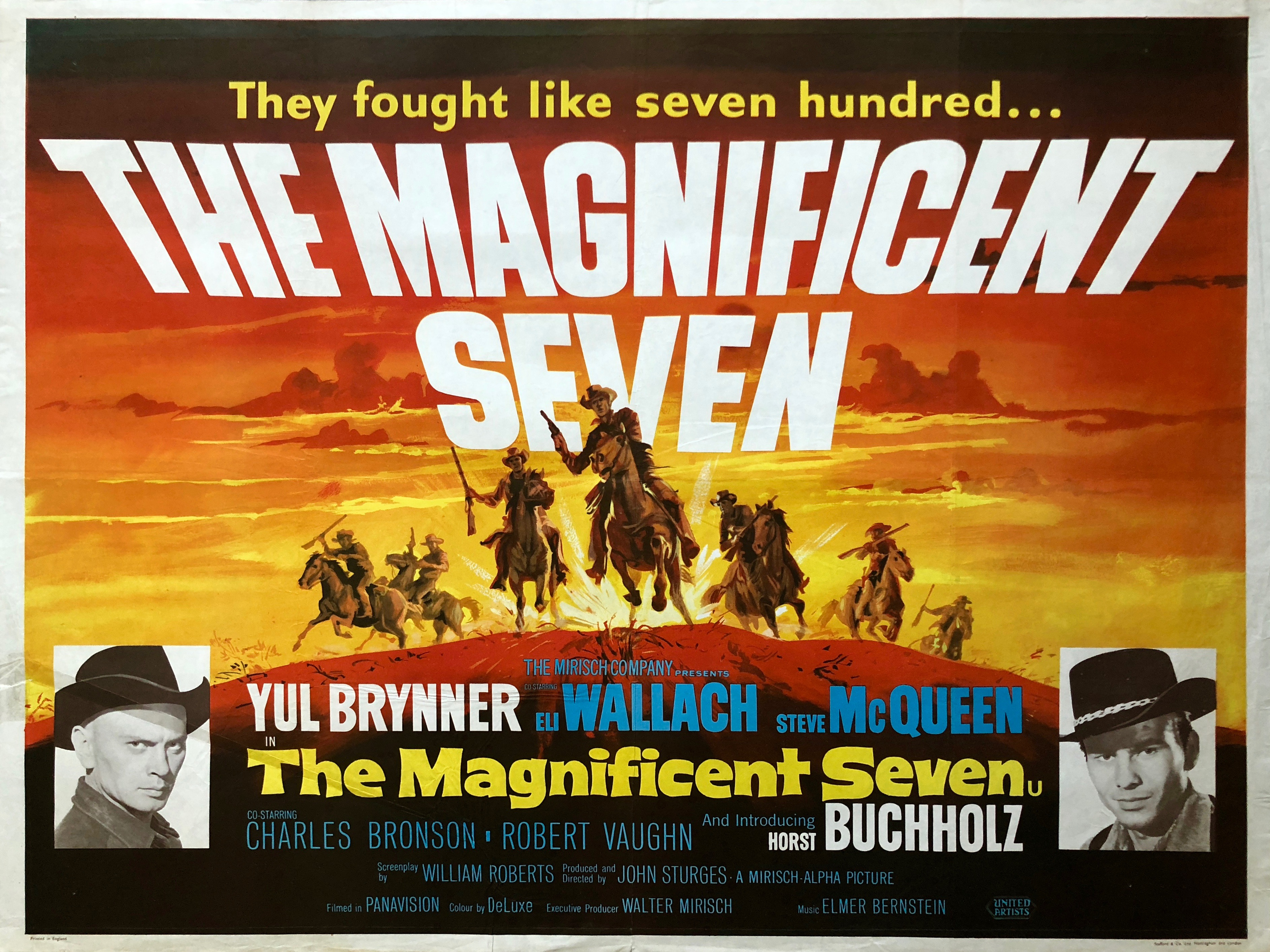 The Magnificent Seven Movie Poster - Vintage Movie Posters