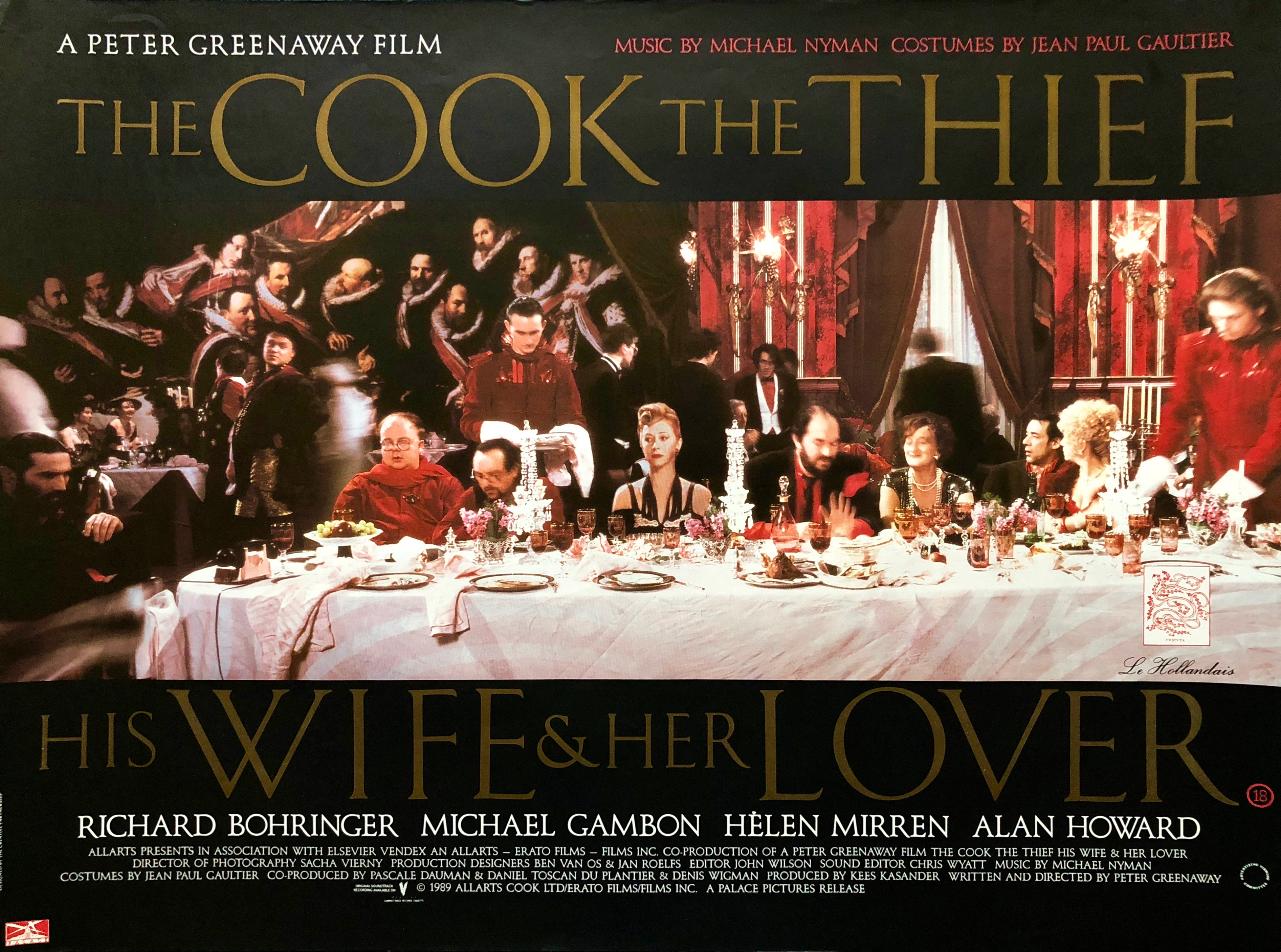 an analysis of the cook the thief his wife and her lover by peter greenway The cook, the thief, his wife & her lover 120 mins direction: peter greenaway whose vulgarity humiliates his wife (mirren) and leads her into embarking on.