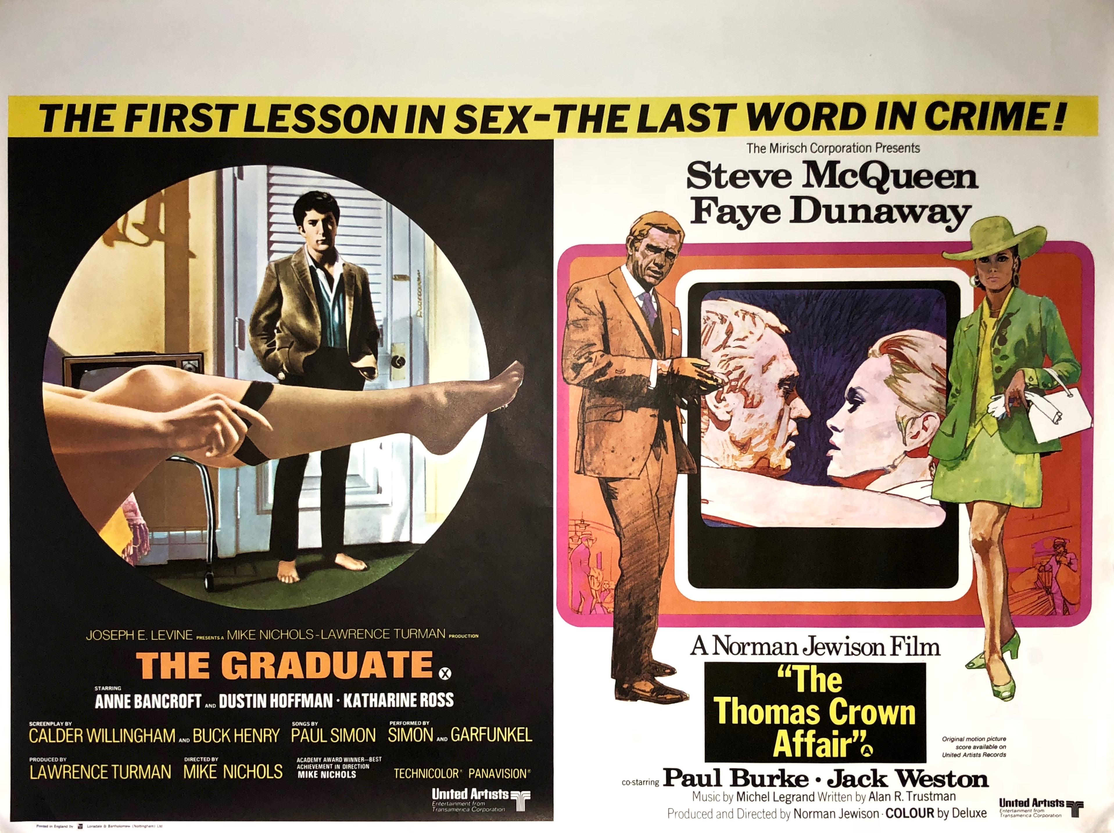 The-Graduate-/-The-Thomas-Crown-Affair-Movie-Poster