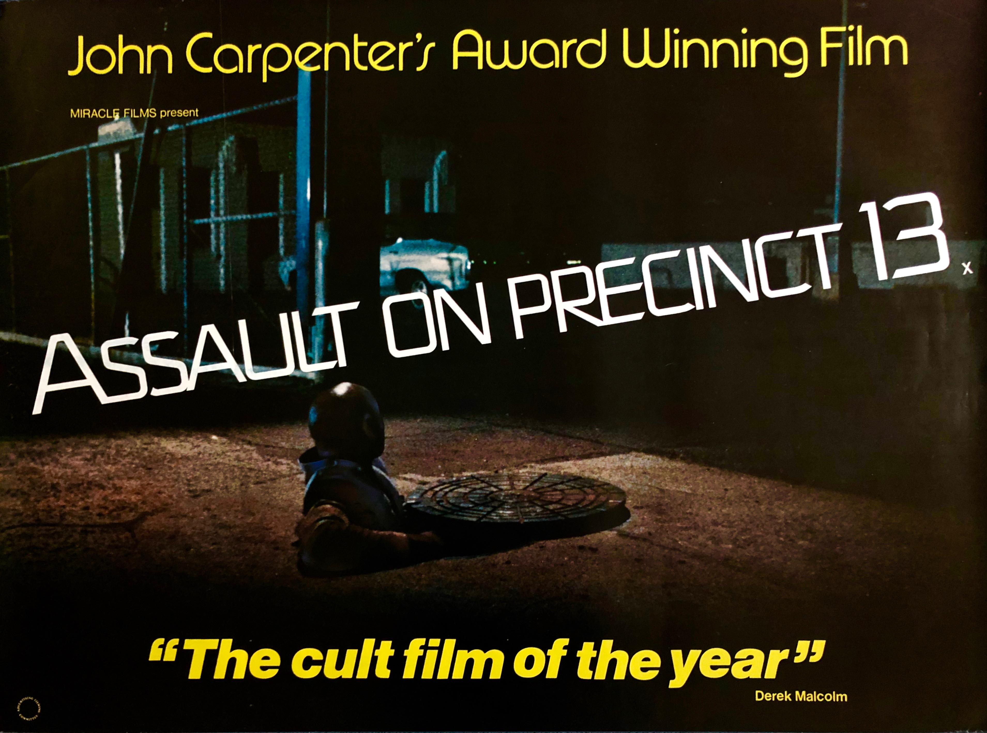 Original Assault on Precinct 13 Movie Poster - John Carpenter ...