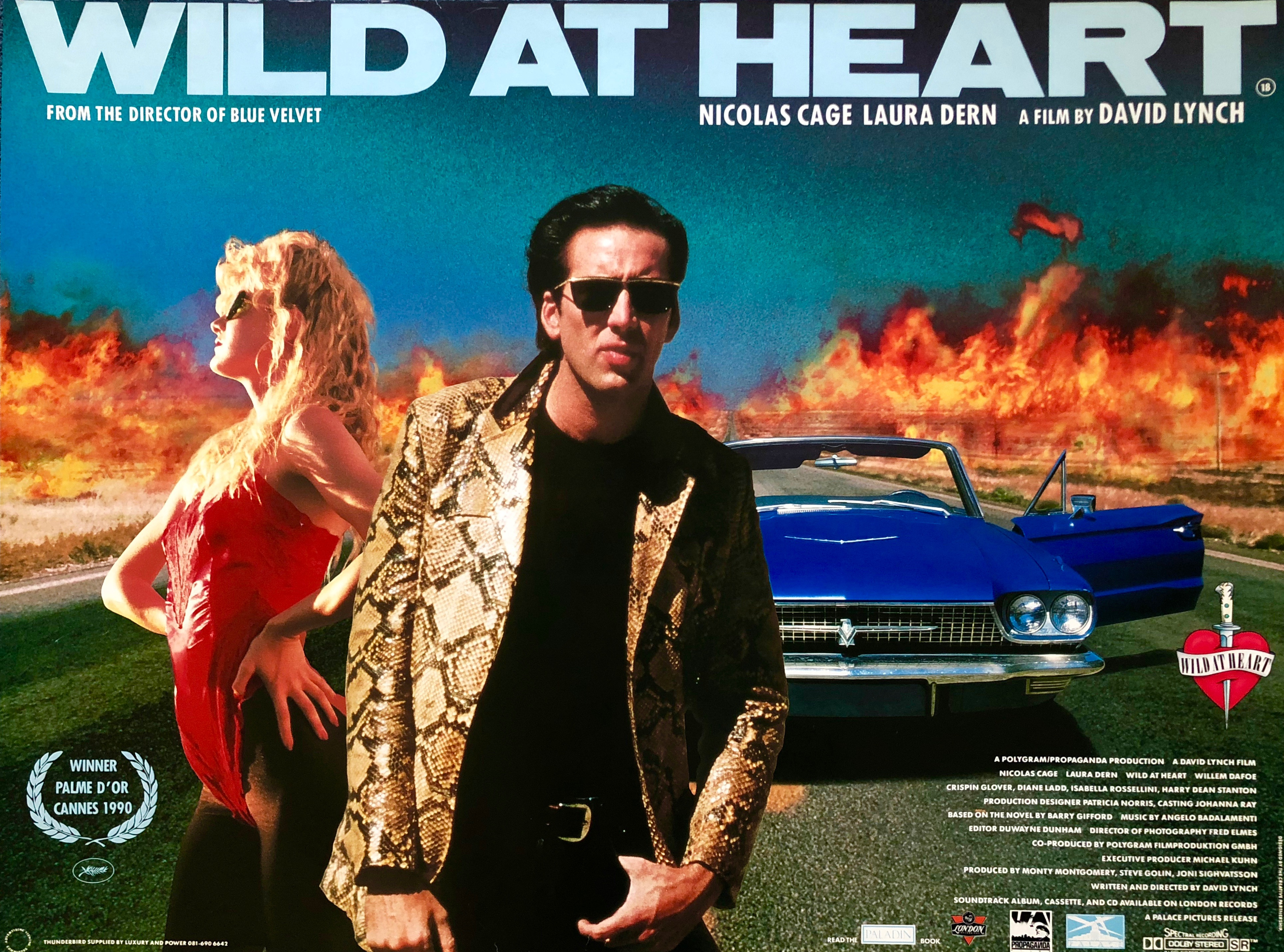 Original Wild at Heart Movie Poster - David Lynch - Nicolas Cage