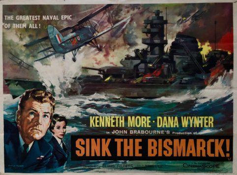 Image result for sink the bismarck! movie poster