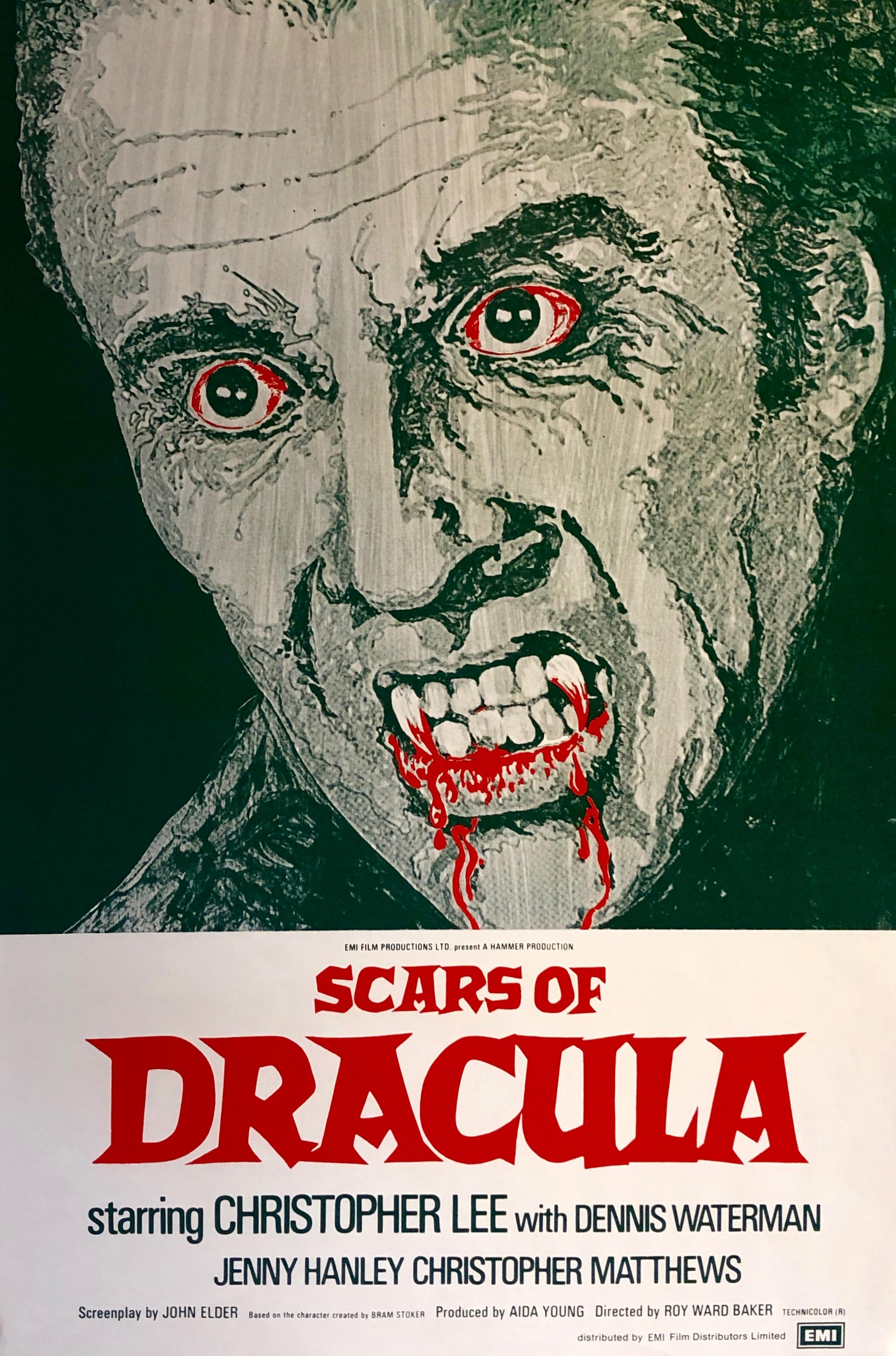 Original Scars of Dracula Movie Poster - Hammer - Christopher Lee