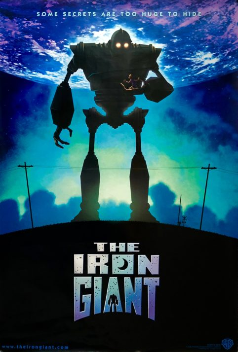 Original The Iron Giant movie poster - Brad Bird - Jennifer Aniston