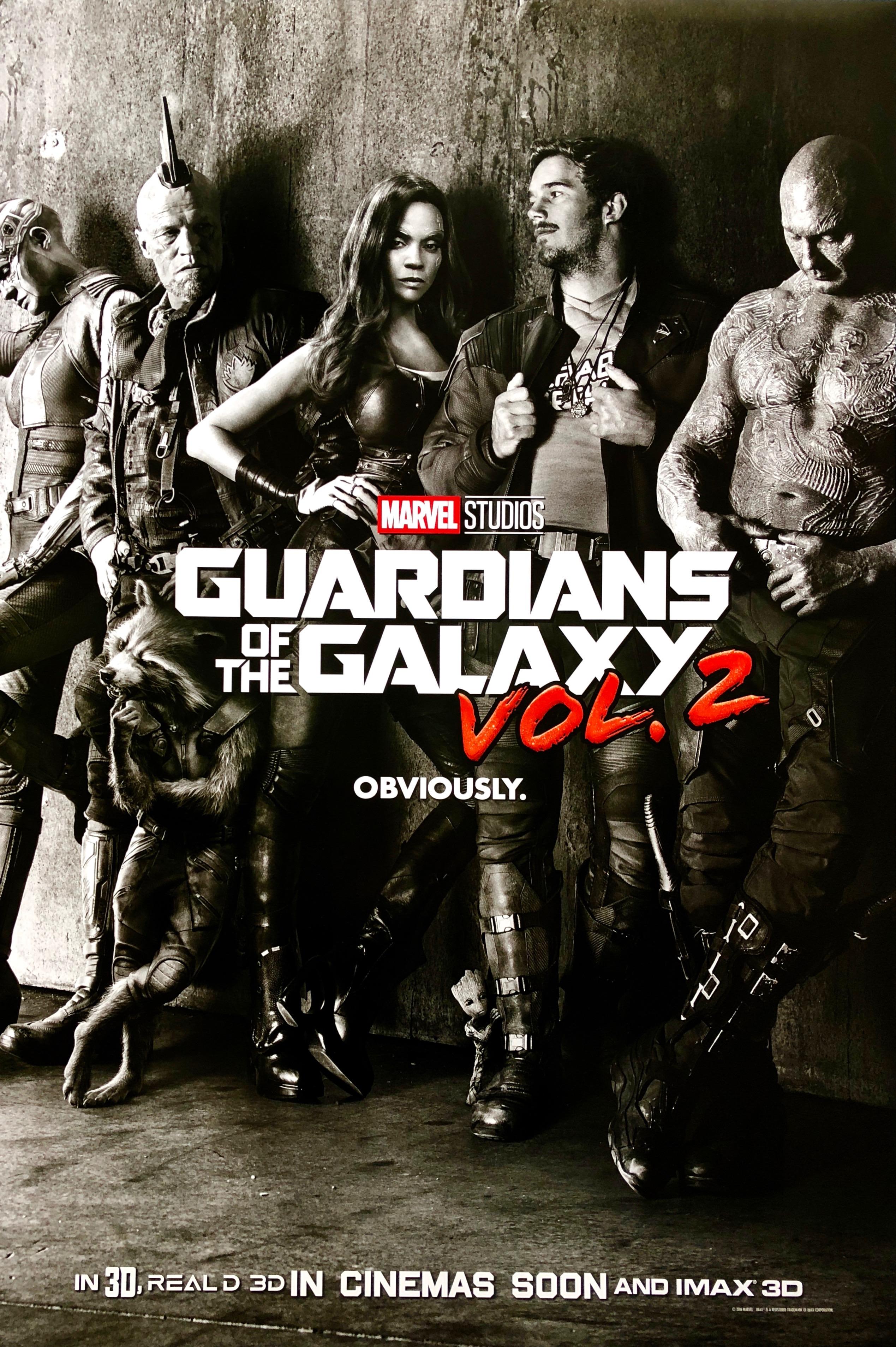 Original Guardians Of The Galaxy Vol 2 Movie Poster Marvel Studios