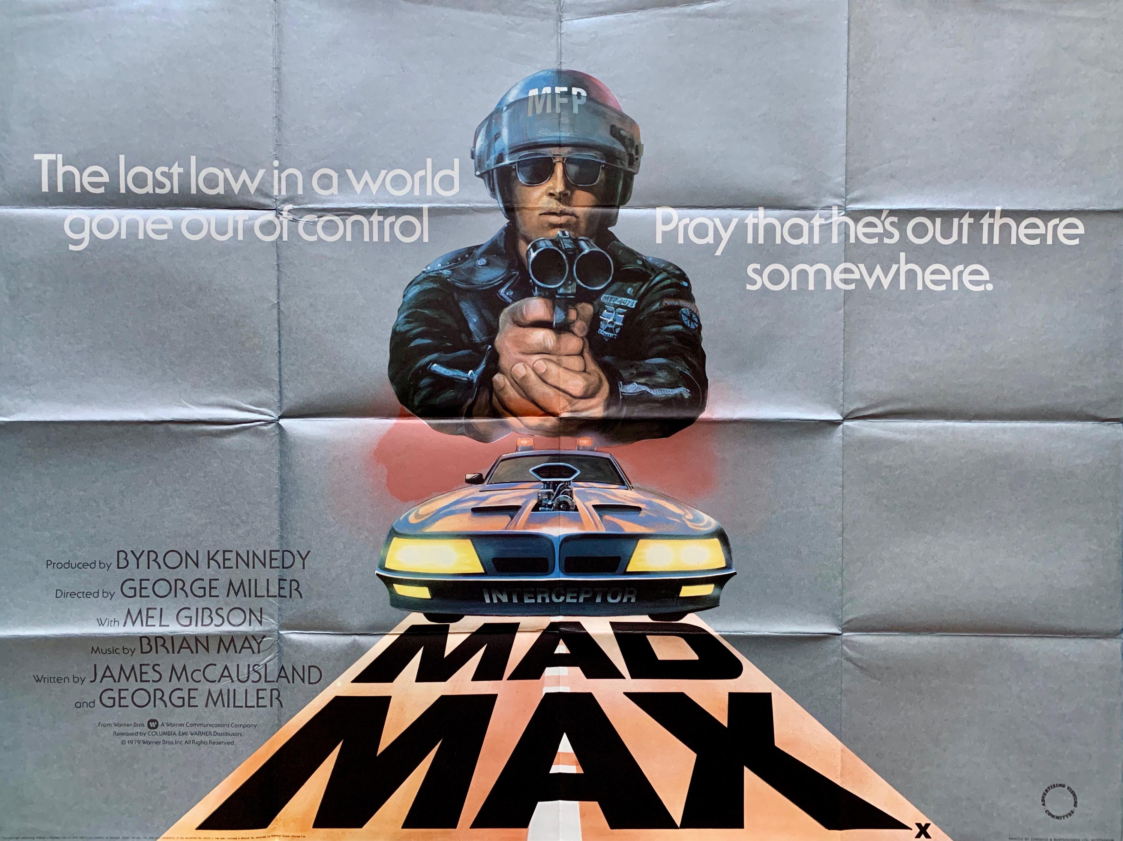 Original Mad Max Film Poster - George Miller - Mel Gibson